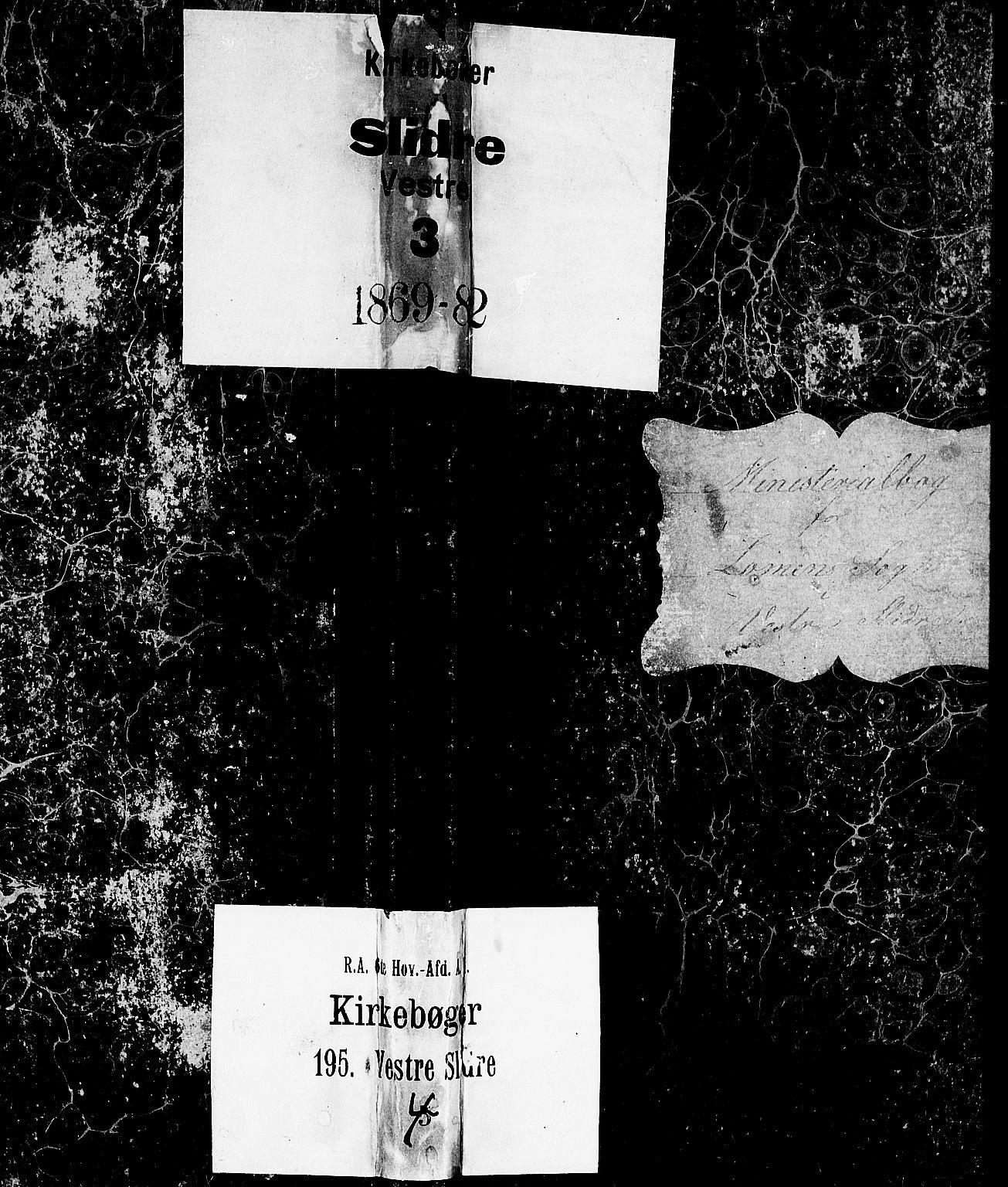 SAH, Vestre Slidre prestekontor, Klokkerbok nr. 2, 1869-1882
