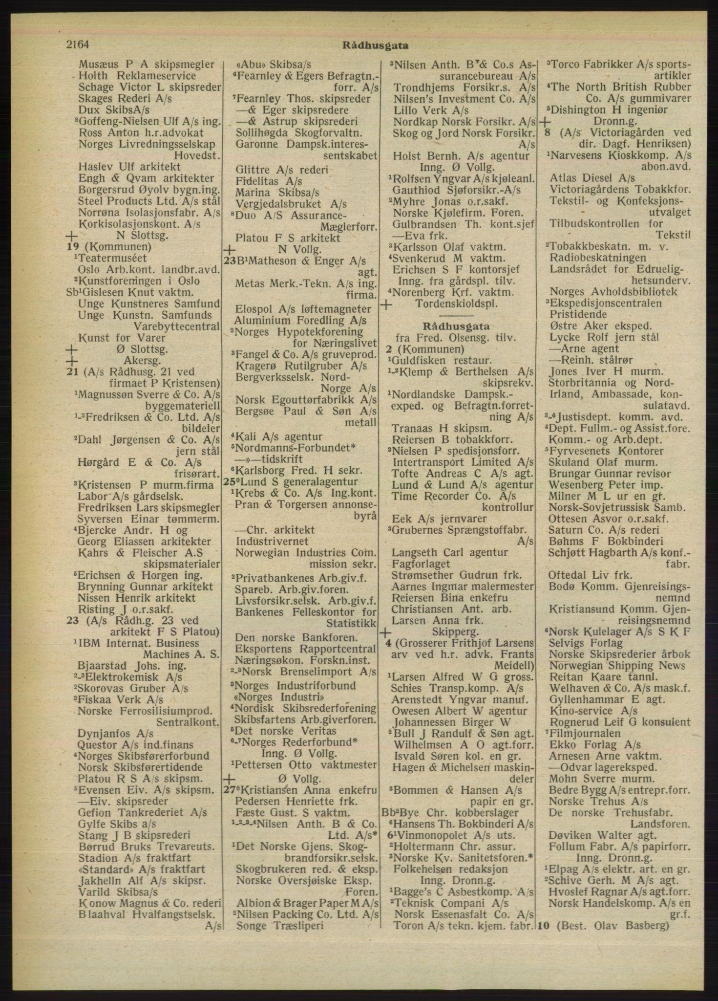 PUBL, Kristiania/Oslo adressebok, 1949, s. 2164