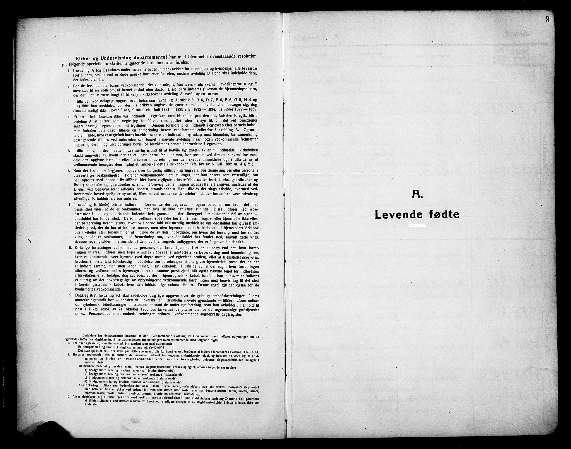 SAH, Lillehammer prestekontor, Klokkerbok nr. 2, 1913-1929, s. 3