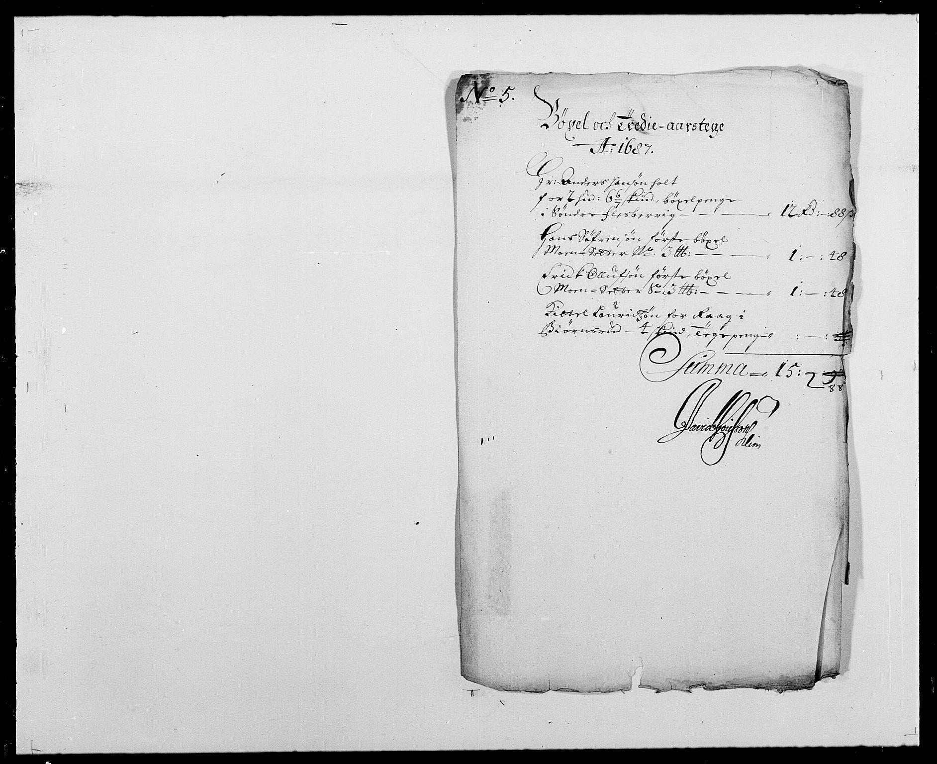 RA, Rentekammeret inntil 1814, Reviderte regnskaper, Fogderegnskap, R24/L1573: Fogderegnskap Numedal og Sandsvær, 1687-1691, s. 32