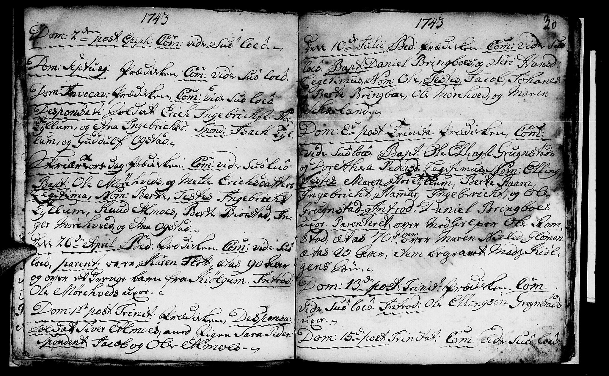 SAT, Ministerialprotokoller, klokkerbøker og fødselsregistre - Nord-Trøndelag, 765/L0560: Ministerialbok nr. 765A01, 1706-1748, s. 30