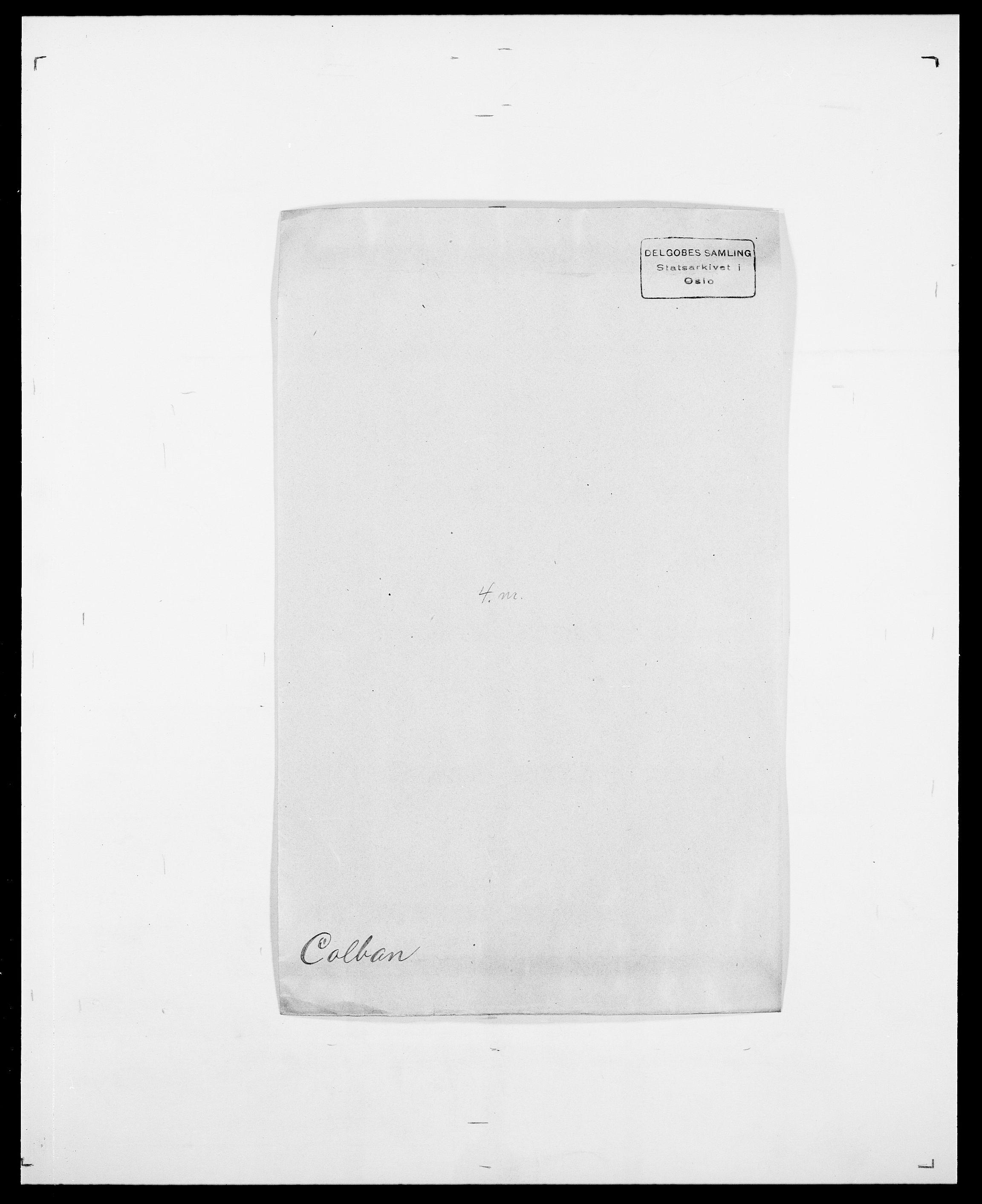 SAO, Delgobe, Charles Antoine - samling, D/Da/L0008: Capjon - Dagenbolt, s. 397