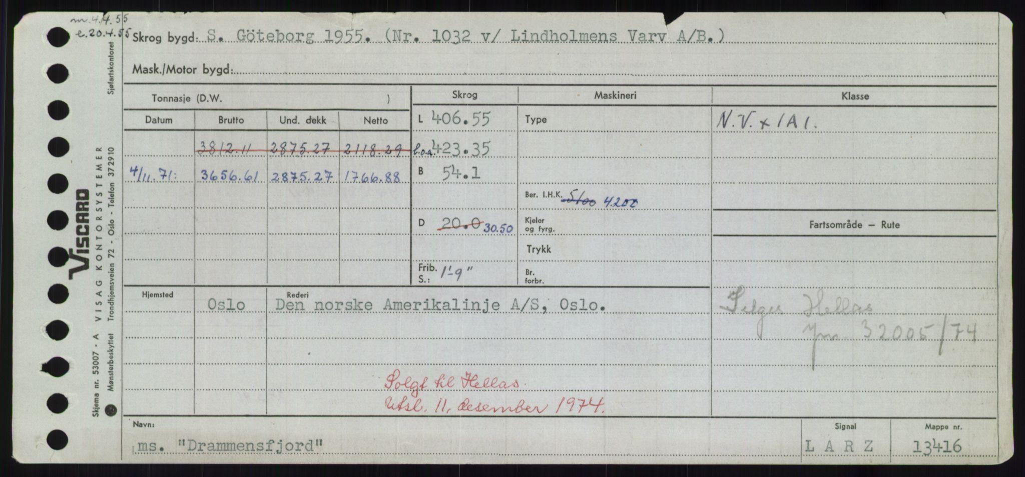 RA, Sjøfartsdirektoratet med forløpere, Skipsmålingen, H/Hd/L0008: Fartøy, C-D, s. 627