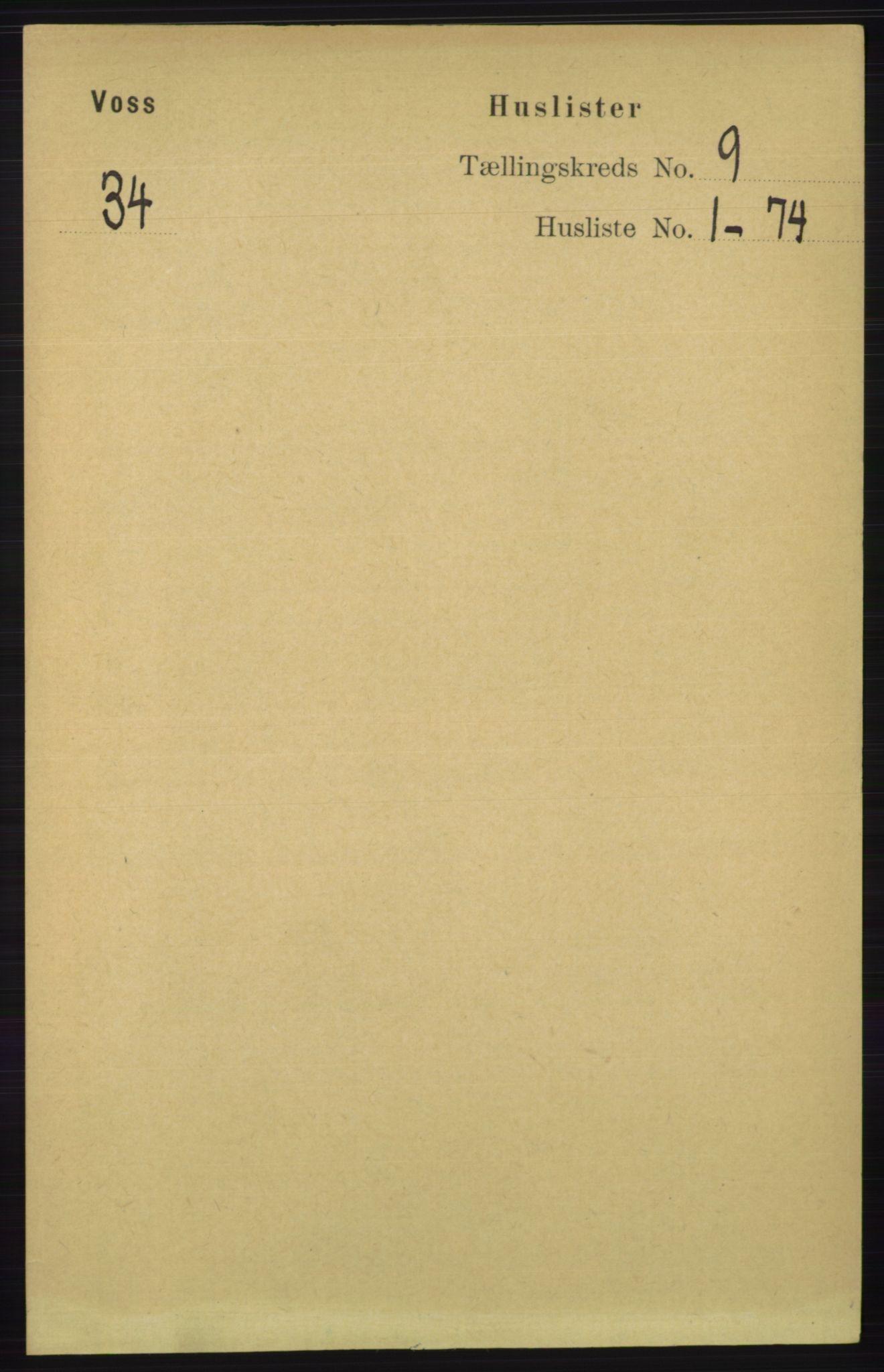 RA, Folketelling 1891 for 1235 Voss herred, 1891, s. 4643
