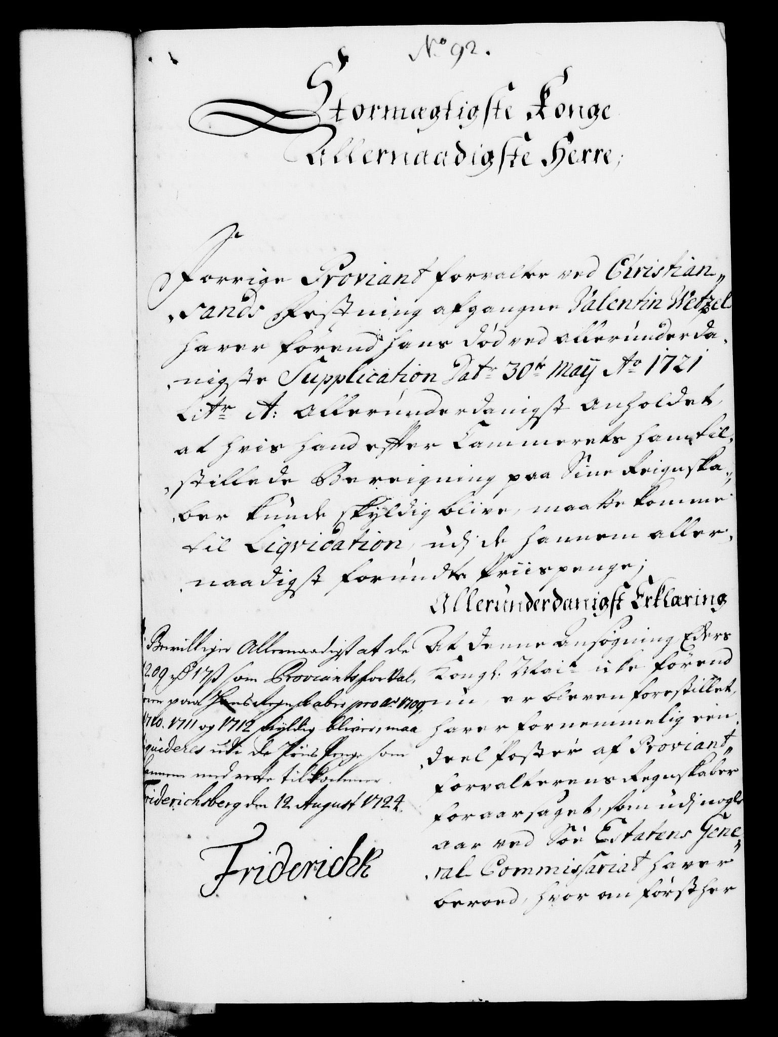 RA, Rentekammeret, Kammerkanselliet, G/Gf/Gfa/L0007: Norsk relasjons- og resolusjonsprotokoll (merket RK 52.7), 1724, s. 627