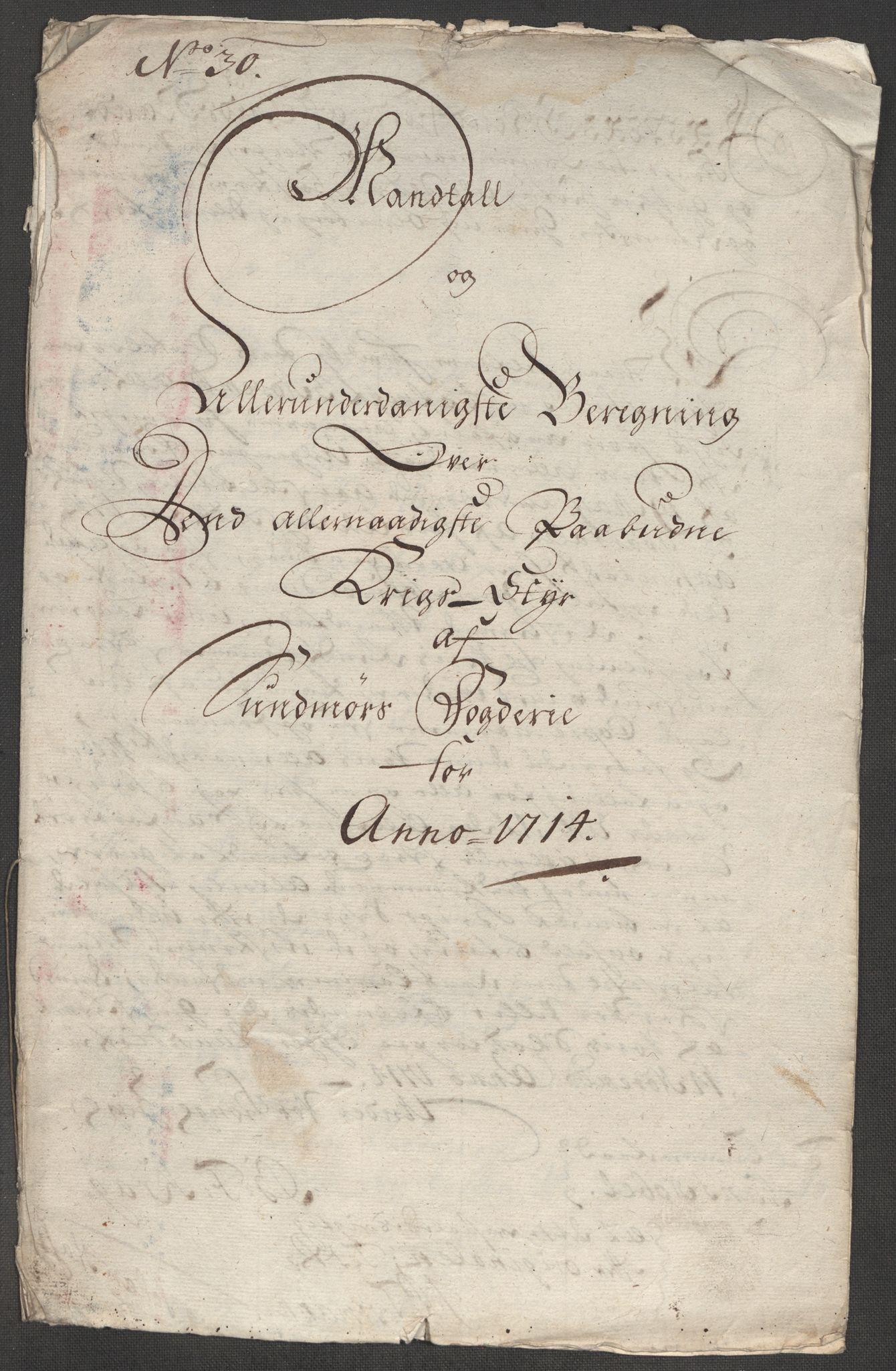 RA, Rentekammeret inntil 1814, Reviderte regnskaper, Fogderegnskap, R54/L3566: Fogderegnskap Sunnmøre, 1714, s. 178