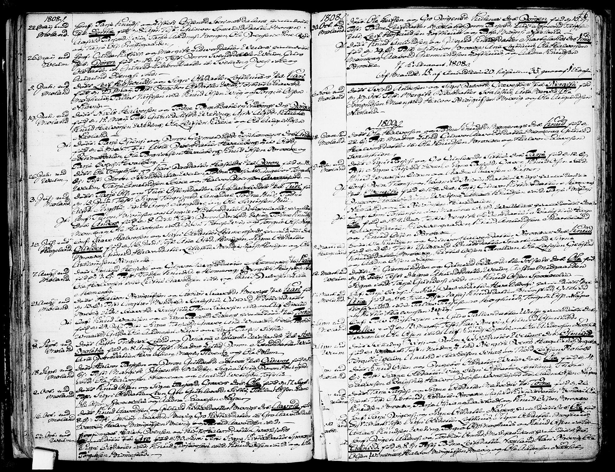 SAKO, Fyresdal kirkebøker, F/Fa/L0002: Ministerialbok nr. I 2, 1769-1814, s. 46