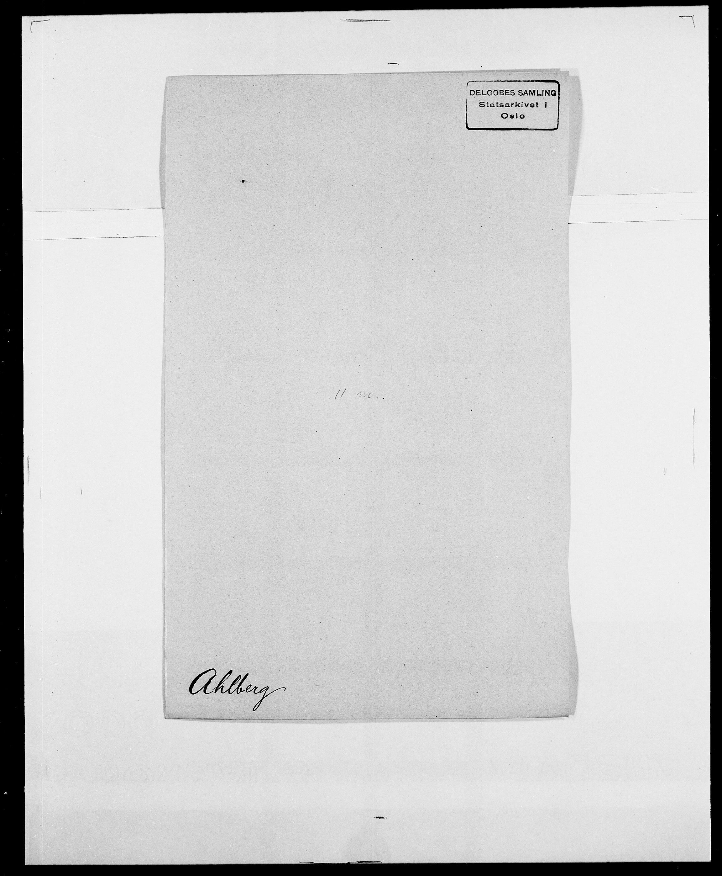 SAO, Delgobe, Charles Antoine - samling, D/Da/L0001: Aabye - Angerman, s. 314