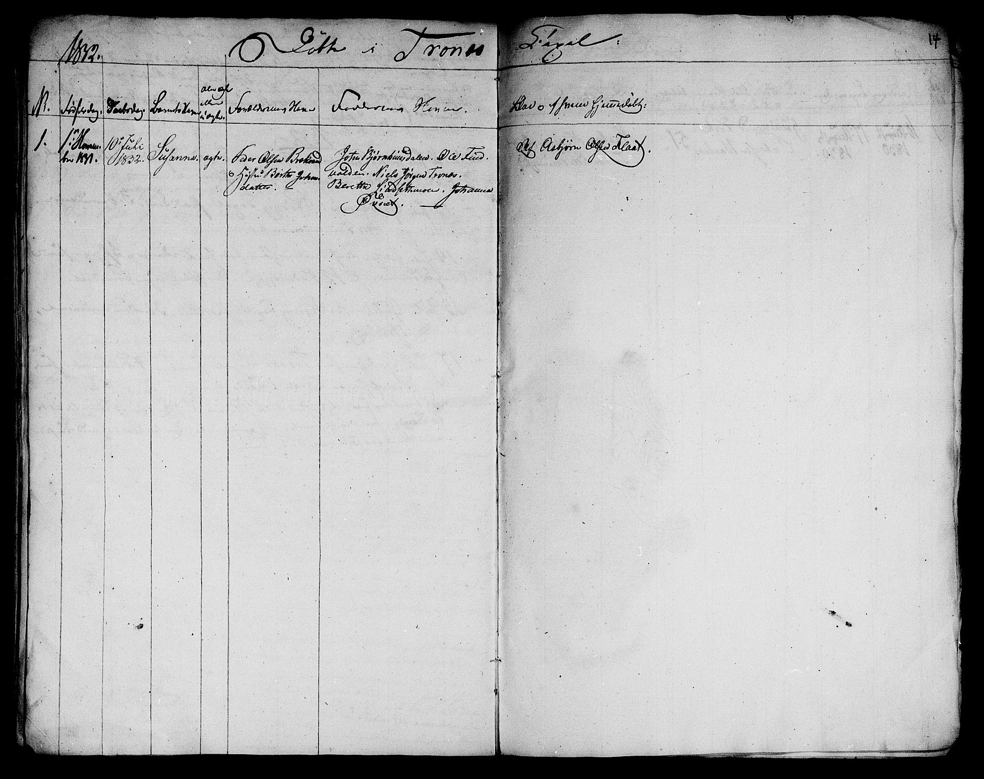 SAT, Ministerialprotokoller, klokkerbøker og fødselsregistre - Nord-Trøndelag, 762/L0536: Ministerialbok nr. 762A01 /2, 1830-1832, s. 14