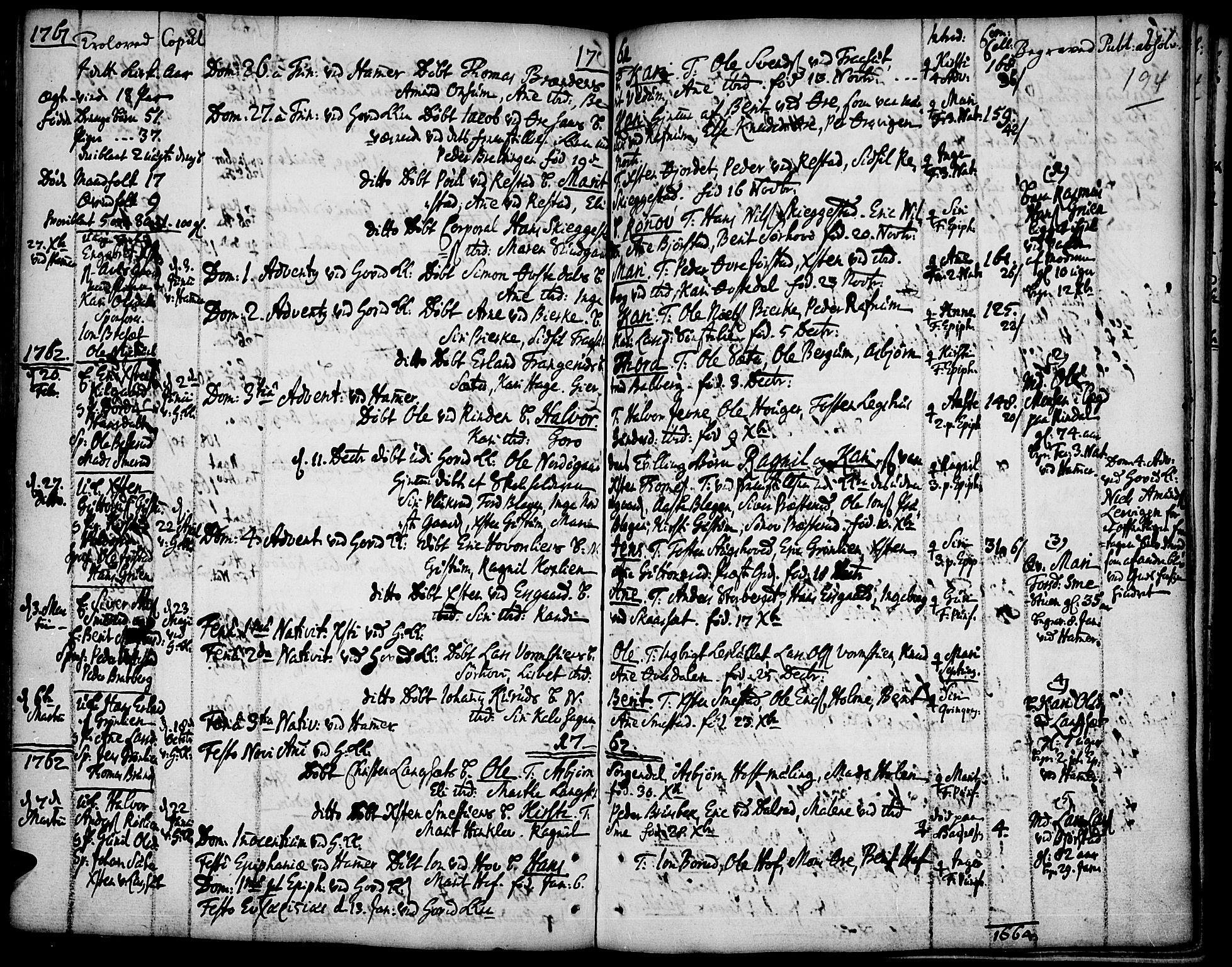 SAH, Fåberg prestekontor, Ministerialbok nr. 1, 1727-1775, s. 194