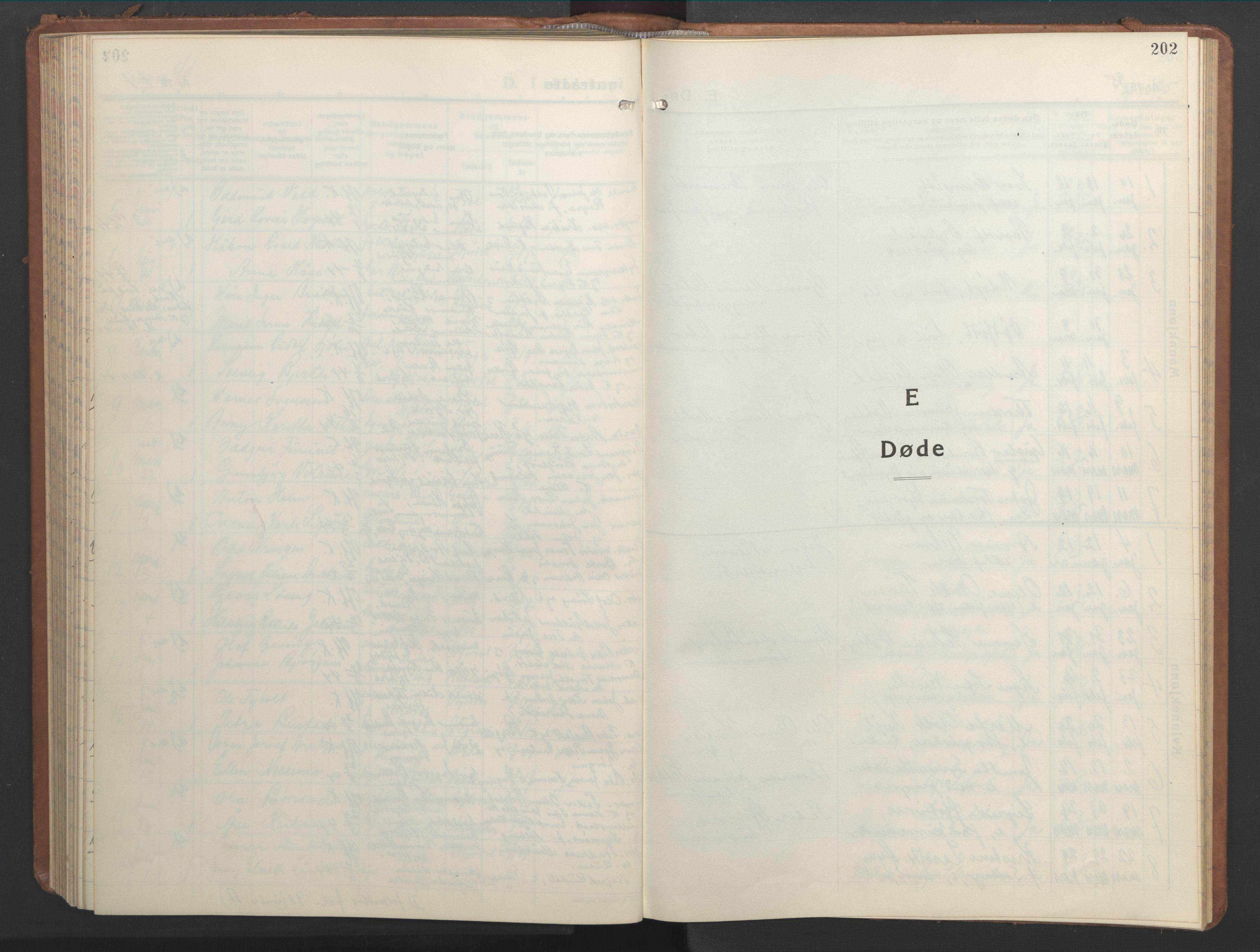 SAT, Ministerialprotokoller, klokkerbøker og fødselsregistre - Nord-Trøndelag, 709/L0089: Klokkerbok nr. 709C03, 1935-1948, s. 202