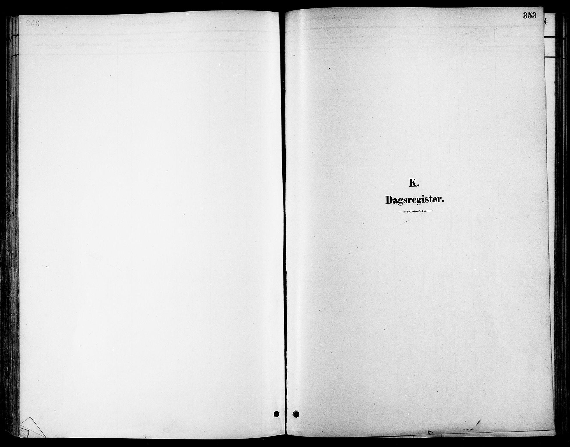 SAT, Ministerialprotokoller, klokkerbøker og fødselsregistre - Sør-Trøndelag, 678/L0901: Ministerialbok nr. 678A10, 1881-1894, s. 353