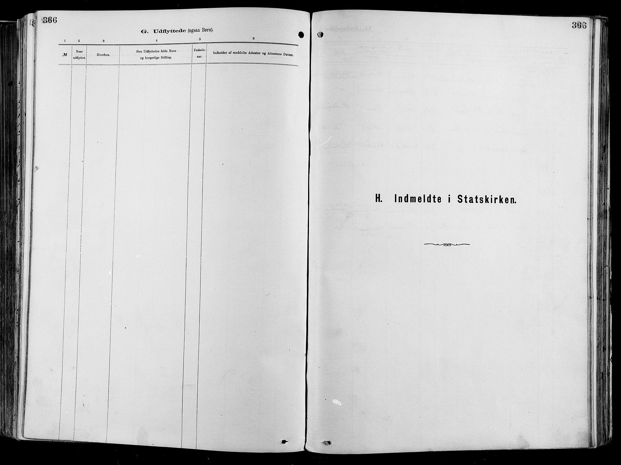 SAO, Garnisonsmenigheten Kirkebøker, F/Fa/L0012: Ministerialbok nr. 12, 1880-1893, s. 366