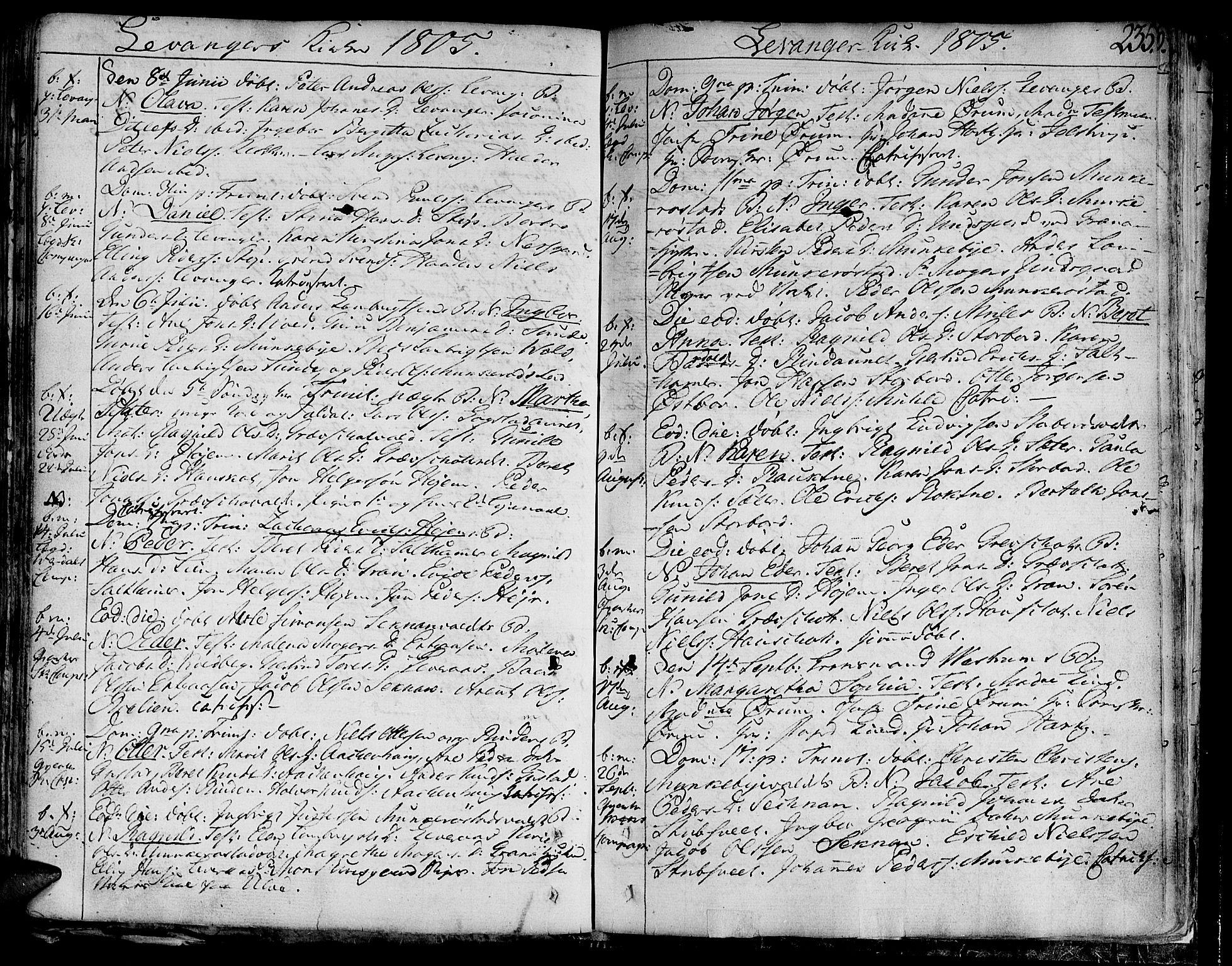 SAT, Ministerialprotokoller, klokkerbøker og fødselsregistre - Nord-Trøndelag, 717/L0144: Ministerialbok nr. 717A02 /3, 1805-1809, s. 235