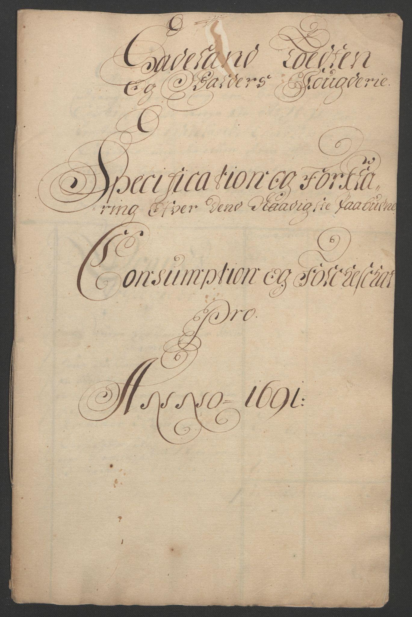 RA, Rentekammeret inntil 1814, Reviderte regnskaper, Fogderegnskap, R18/L1290: Fogderegnskap Hadeland, Toten og Valdres, 1691, s. 171