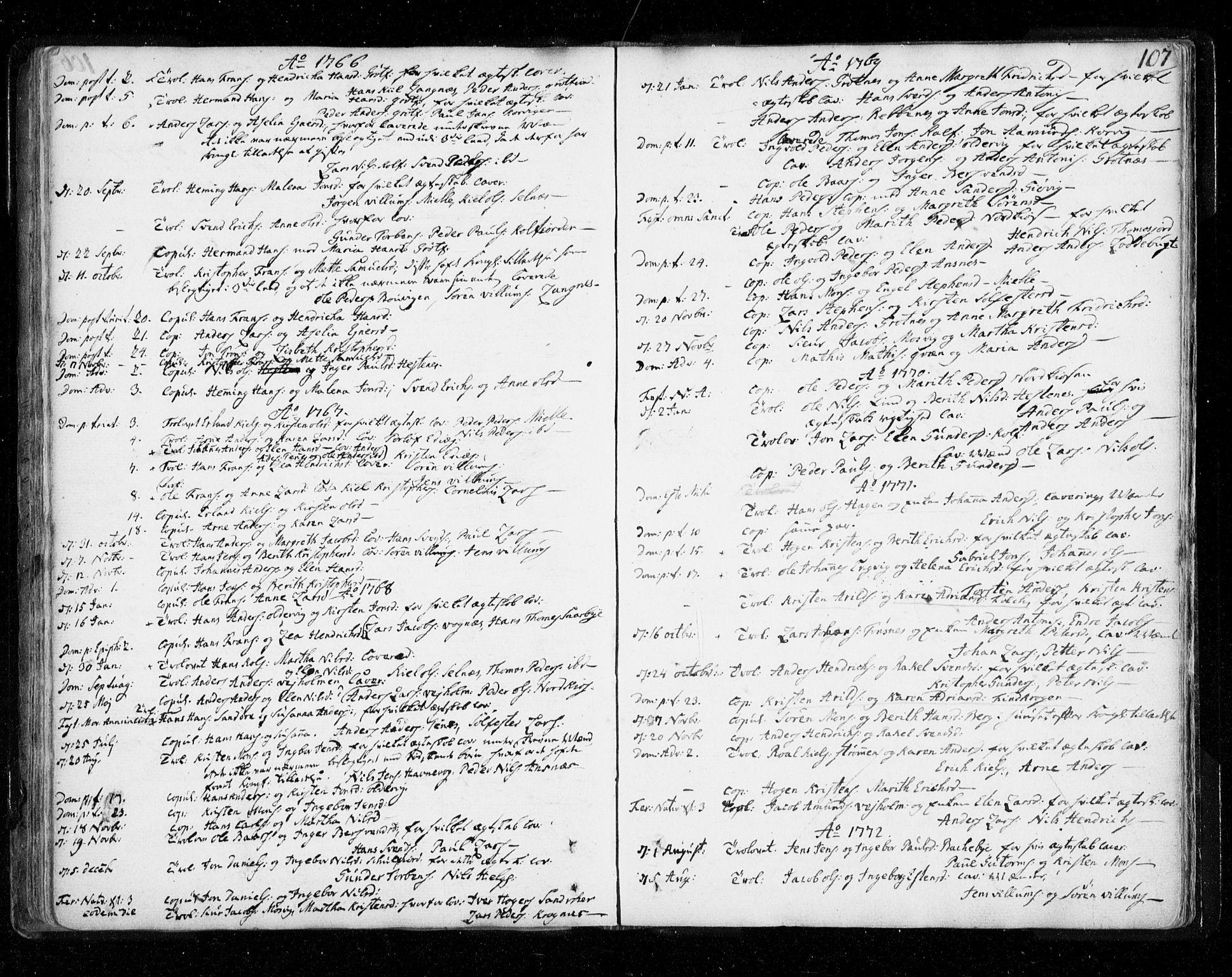 SATØ, Tromsø sokneprestkontor/stiftsprosti/domprosti, G/Ga/L0002kirke: Ministerialbok nr. 2, 1753-1778, s. 107