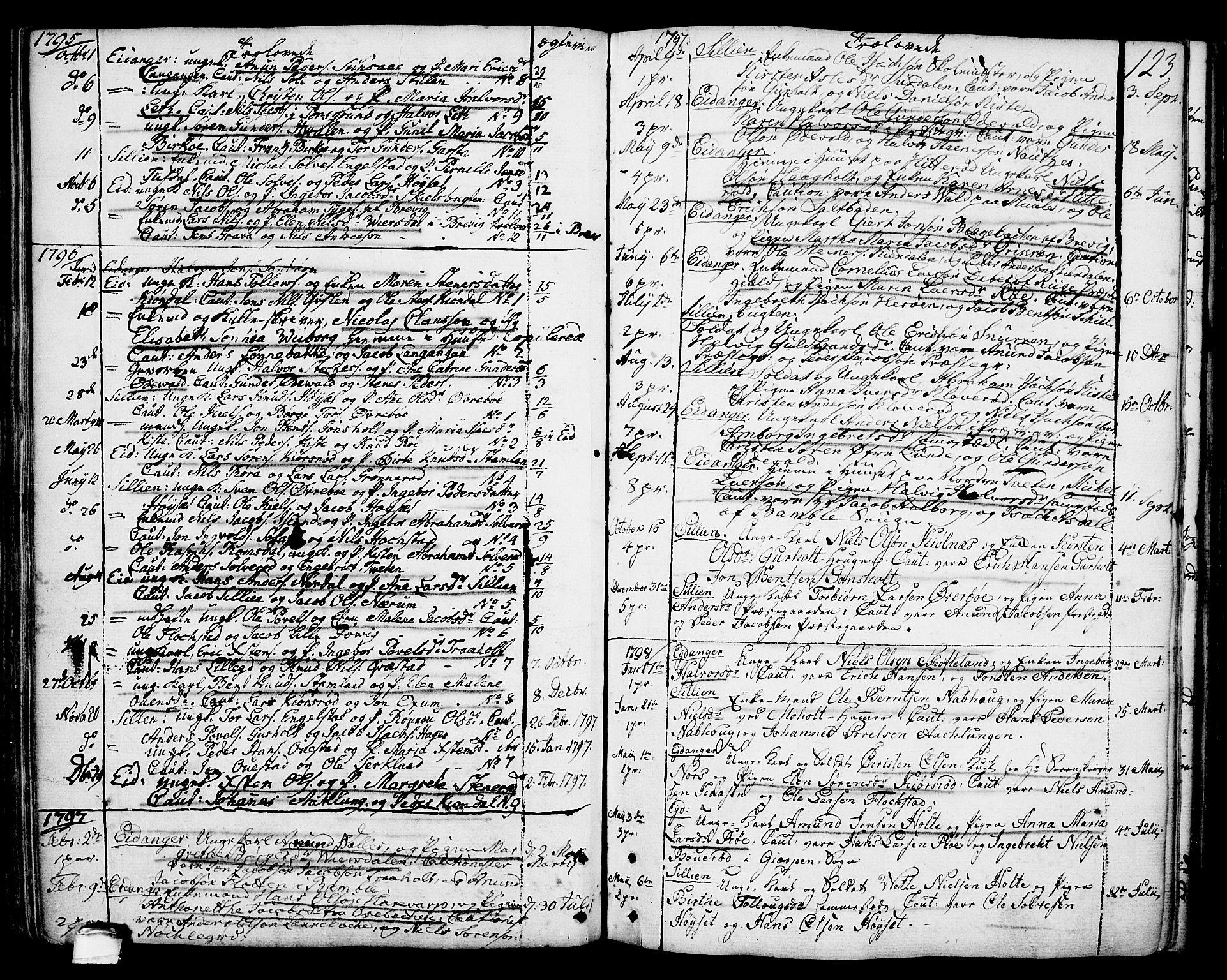 SAKO, Eidanger kirkebøker, F/Fa/L0006: Ministerialbok nr. 6, 1764-1814, s. 123