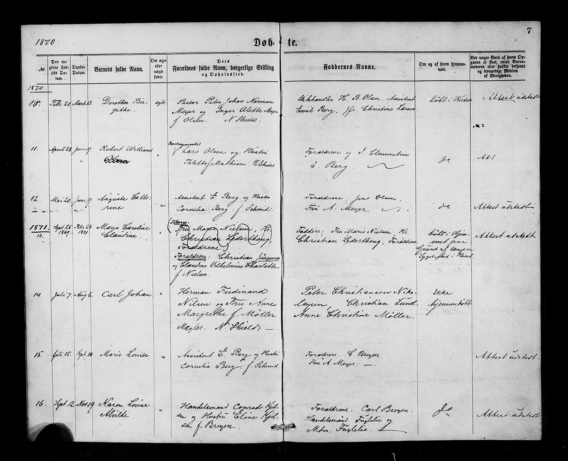 SAB, Den Norske Sjømannsmisjon i utlandet*, Ministerialbok nr. A 1, 1865-1883, s. 7