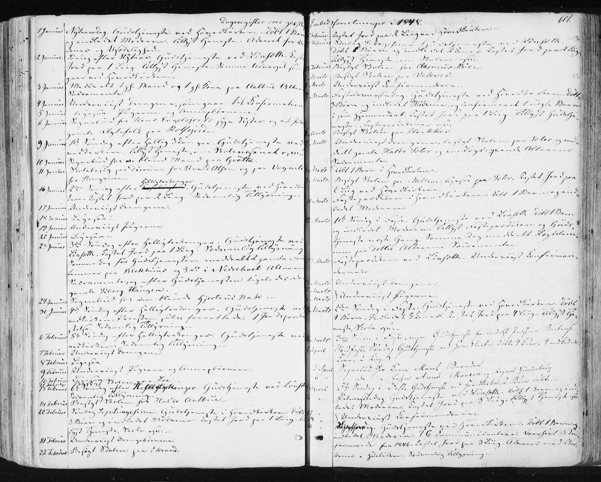 SAT, Ministerialprotokoller, klokkerbøker og fødselsregistre - Sør-Trøndelag, 678/L0899: Ministerialbok nr. 678A08, 1848-1872, s. 601