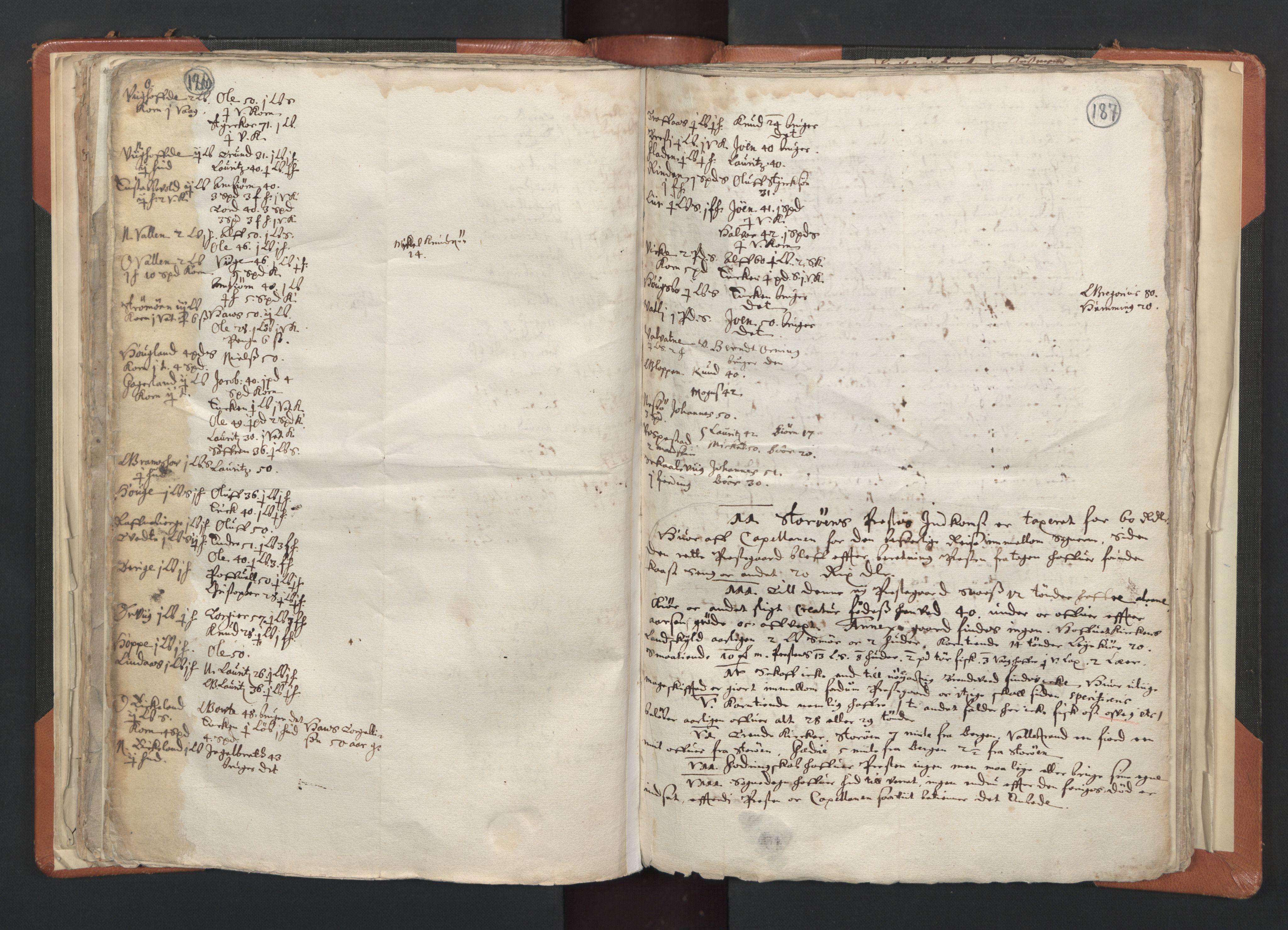 RA, Sogneprestenes manntall 1664-1666, nr. 20: Sunnhordland prosti, 1664-1666, s. 186-187