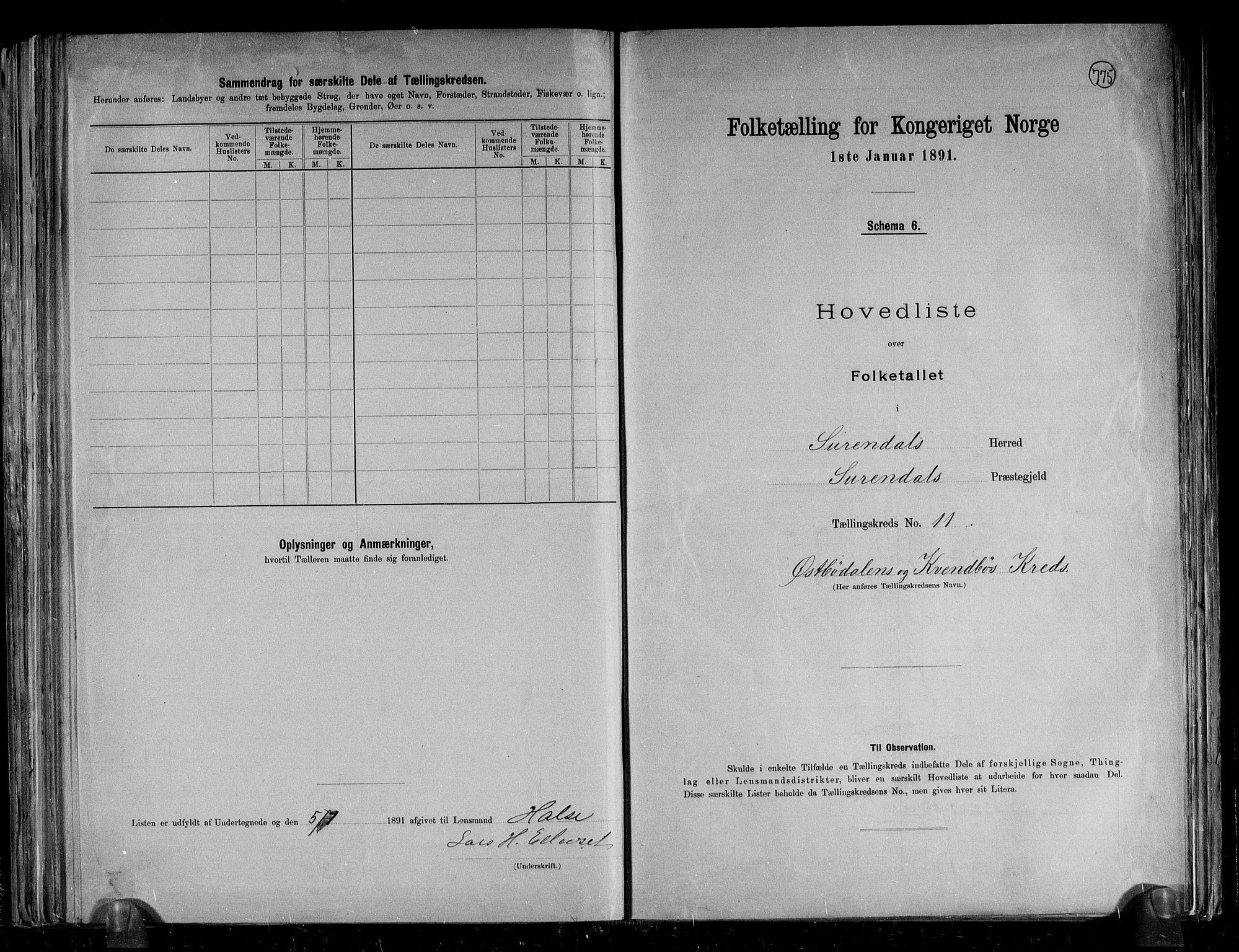 RA, Folketelling 1891 for 1566 Surnadal herred, 1891, s. 29