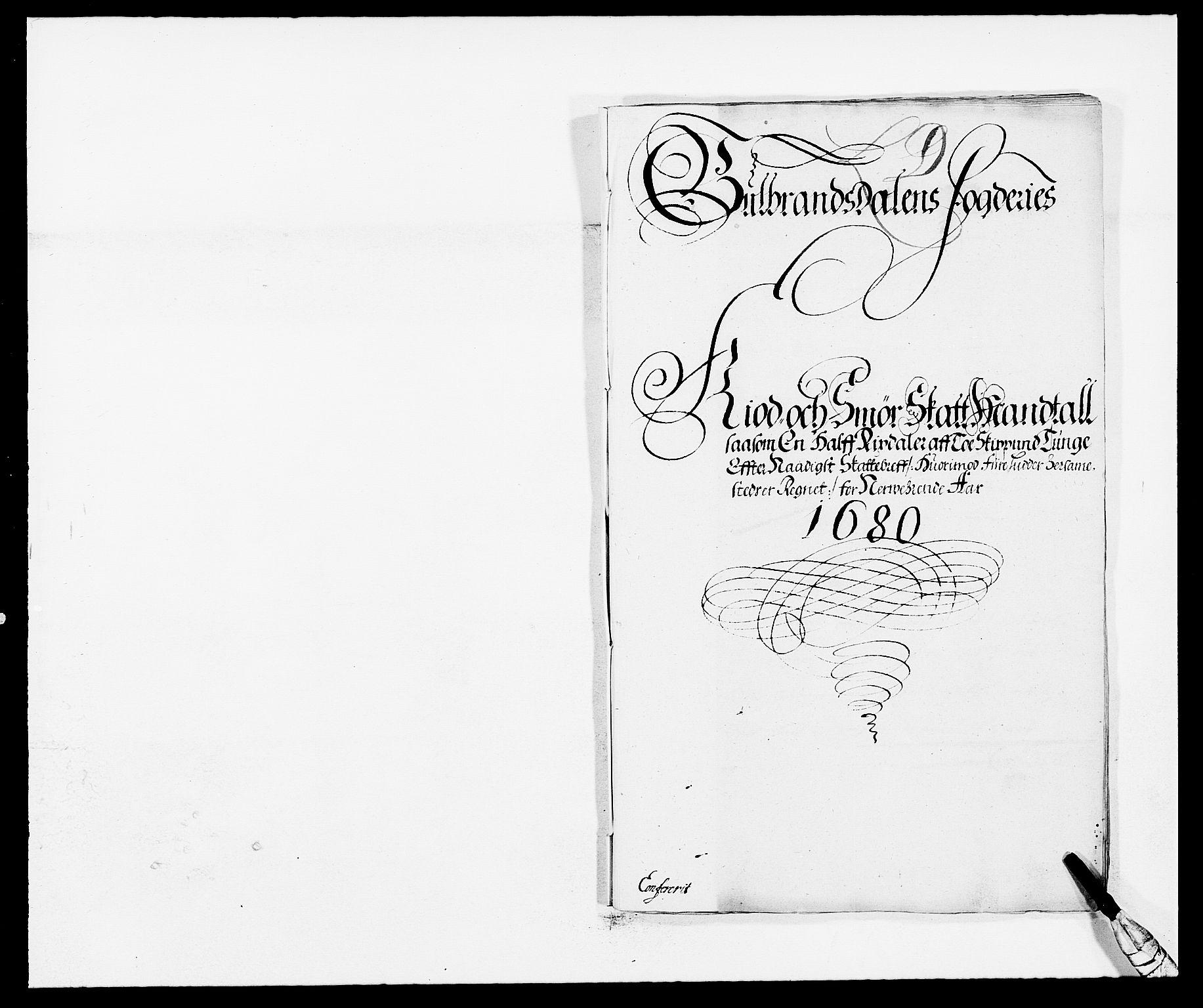 RA, Rentekammeret inntil 1814, Reviderte regnskaper, Fogderegnskap, R17/L1154: Fogderegnskap Gudbrandsdal, 1680, s. 304