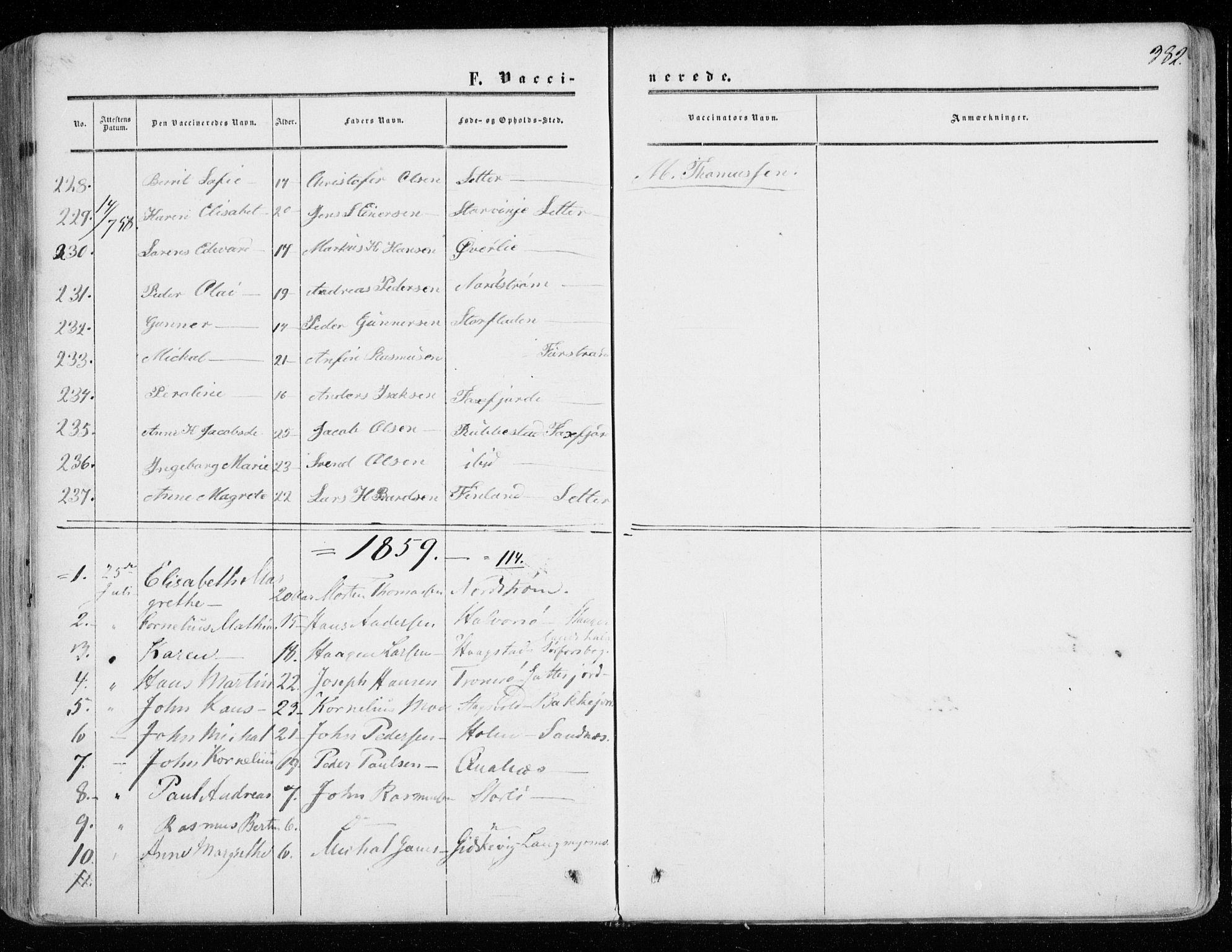 SATØ, Tranøy sokneprestkontor, I/Ia/Iaa/L0007kirke: Ministerialbok nr. 7, 1856-1866, s. 382
