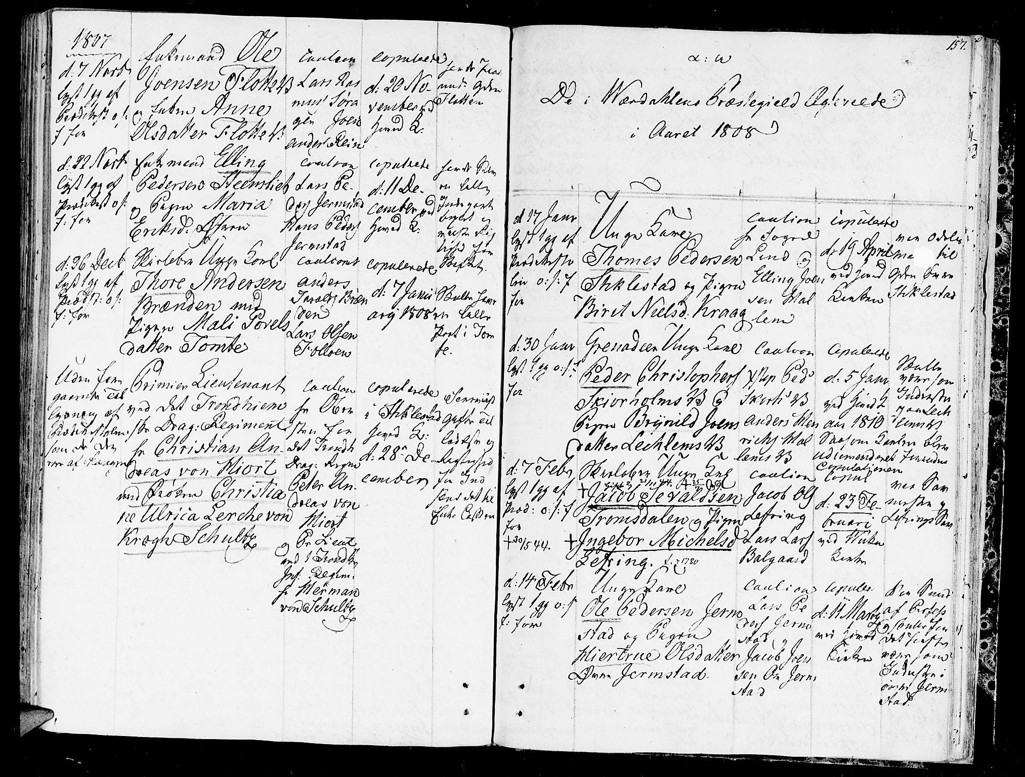 SAT, Ministerialprotokoller, klokkerbøker og fødselsregistre - Nord-Trøndelag, 723/L0233: Ministerialbok nr. 723A04, 1805-1816, s. 157