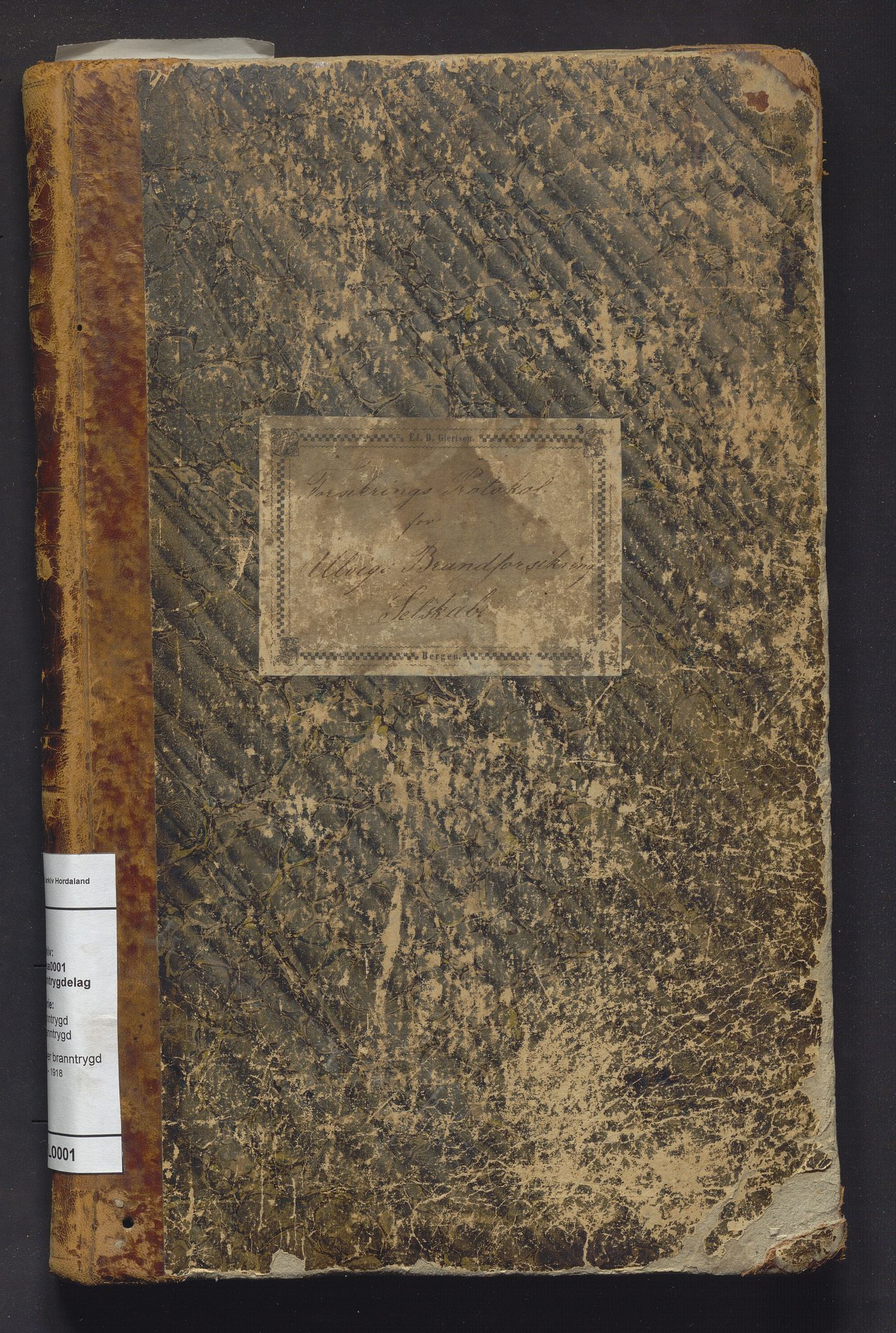IKAH, Ulvik branntrygdelag, F/Fa/L0001: Protokoll over branntrygd, 1868-1918
