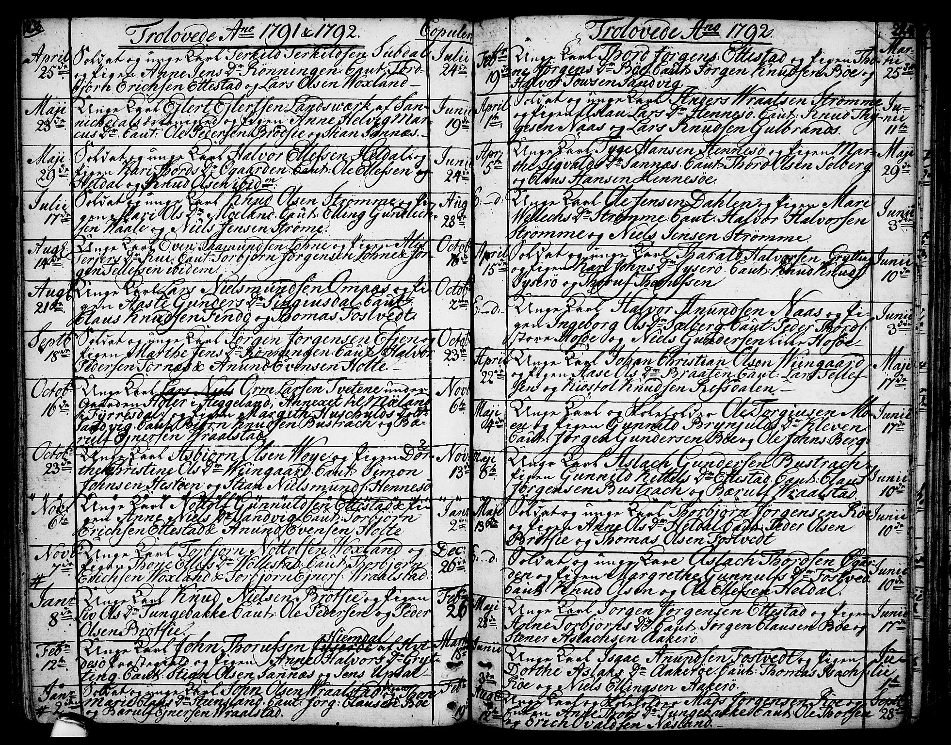 SAKO, Drangedal kirkebøker, F/Fa/L0003: Ministerialbok nr. 3, 1768-1814, s. 223-224