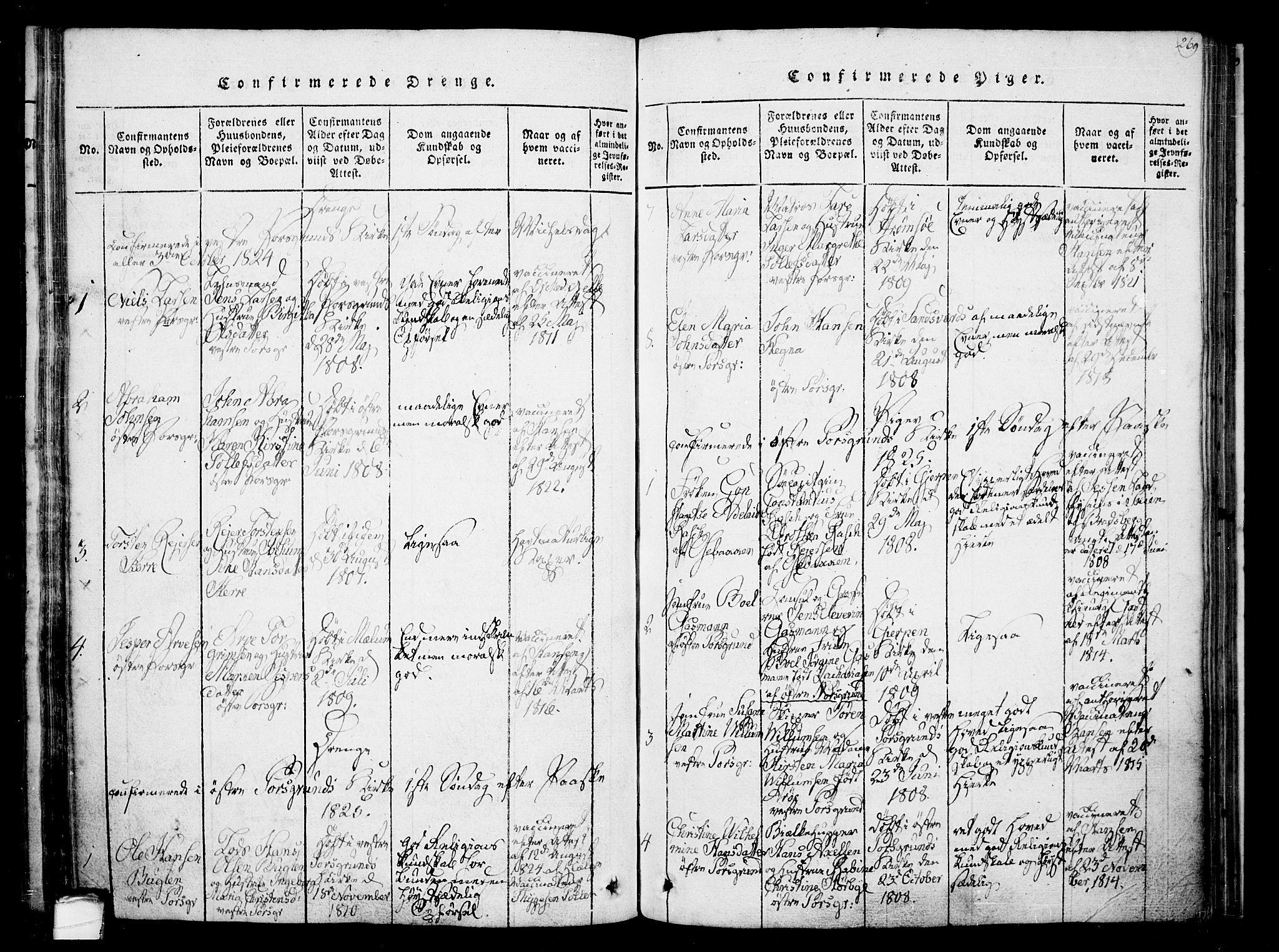SAKO, Porsgrunn kirkebøker , F/Fa/L0004: Ministerialbok nr. 4, 1814-1828, s. 269