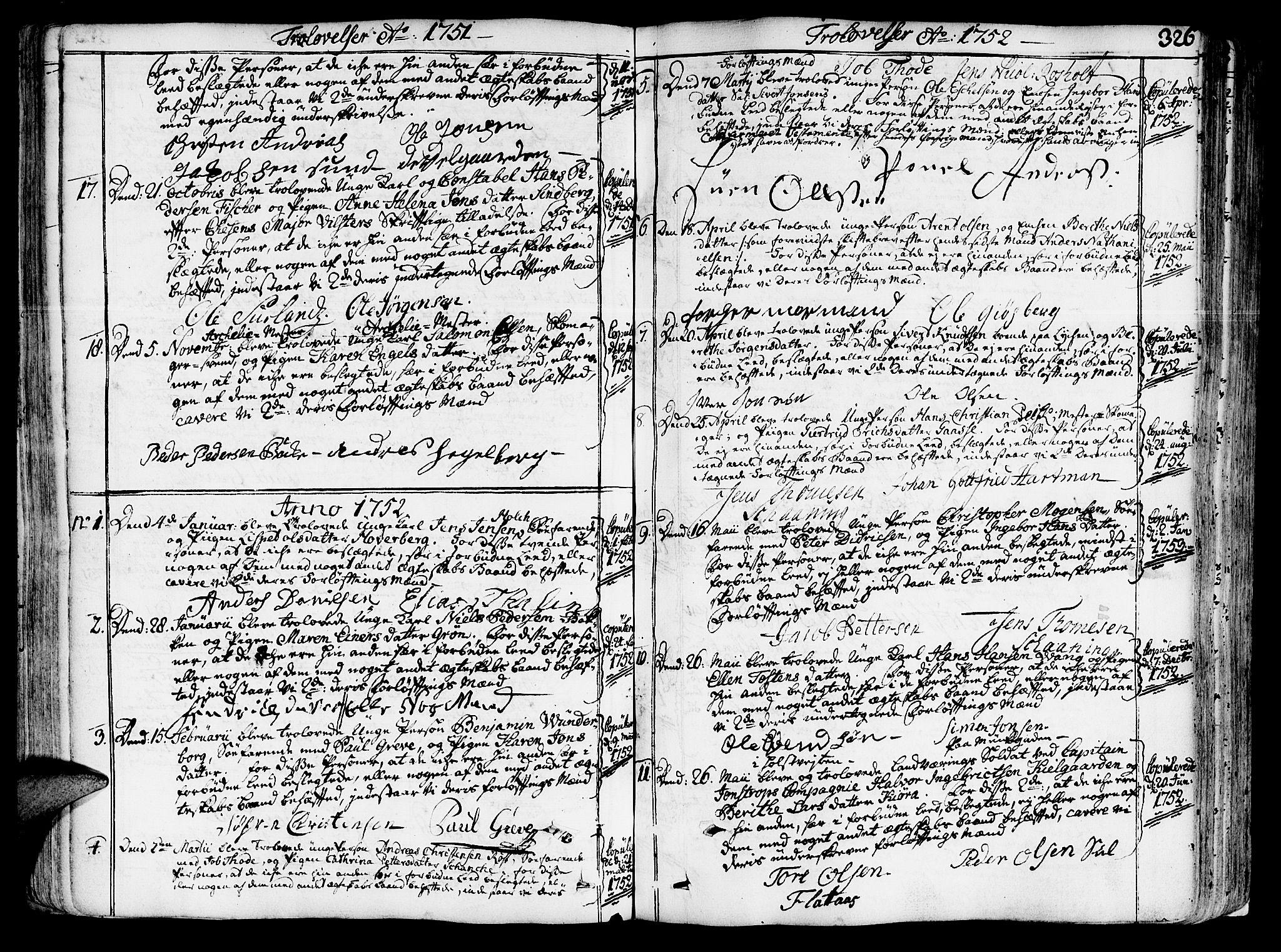 SAT, Ministerialprotokoller, klokkerbøker og fødselsregistre - Sør-Trøndelag, 602/L0103: Ministerialbok nr. 602A01, 1732-1774, s. 326