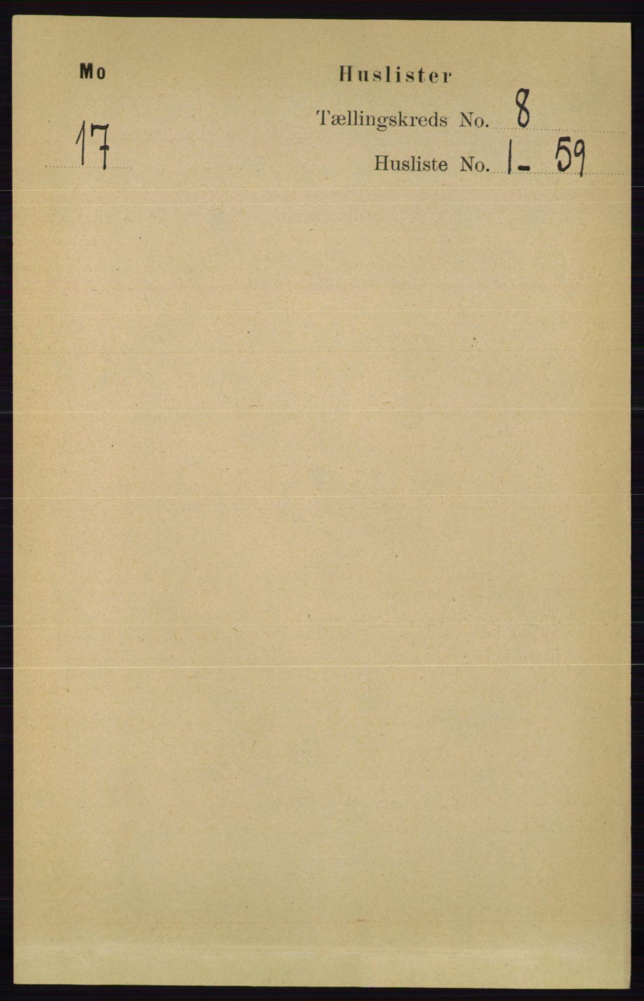 RA, Folketelling 1891 for 0832 Mo herred, 1891, s. 1991