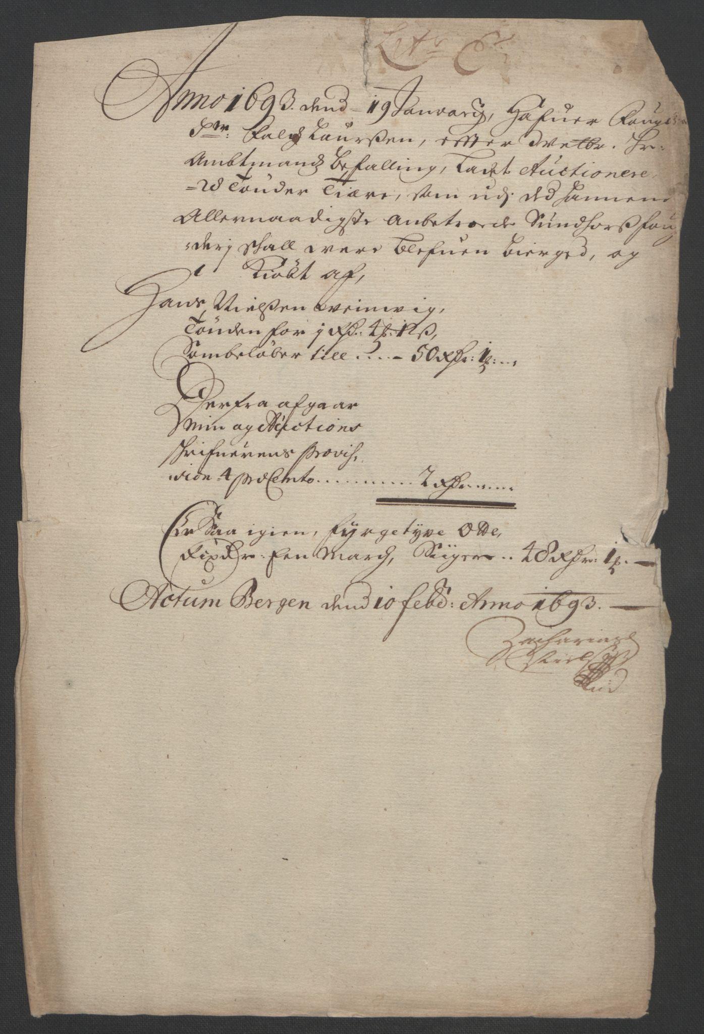 RA, Rentekammeret inntil 1814, Reviderte regnskaper, Fogderegnskap, R48/L2974: Fogderegnskap Sunnhordland og Hardanger, 1693, s. 102