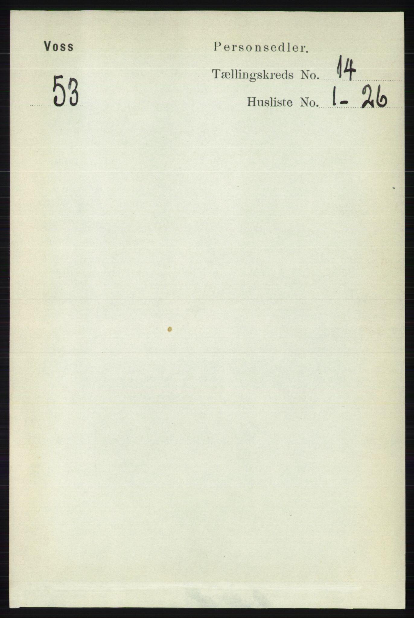 RA, Folketelling 1891 for 1235 Voss herred, 1891, s. 7256