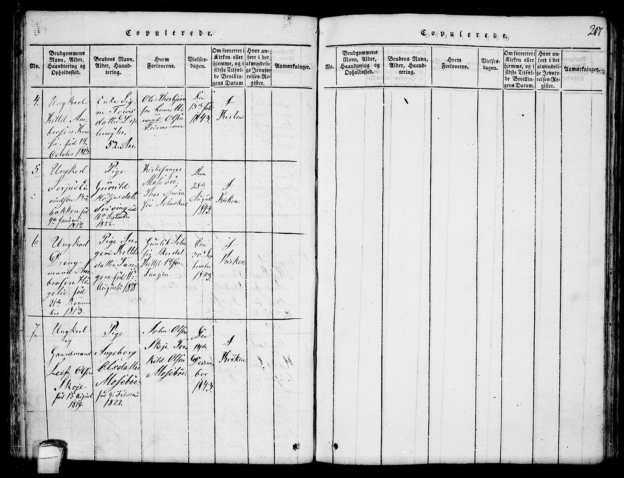 SAKO, Hjartdal kirkebøker, F/Fb/L0001: Ministerialbok nr. II 1, 1815-1843, s. 207