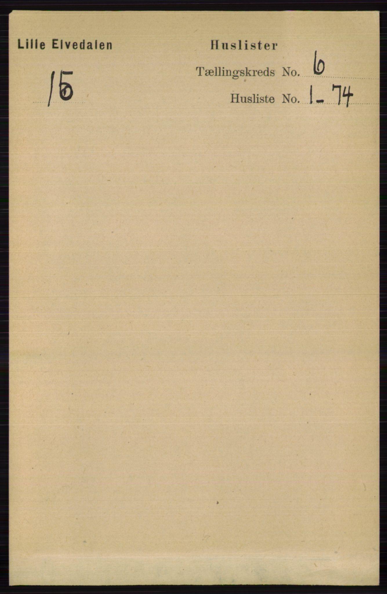 RA, Folketelling 1891 for 0438 Lille Elvedalen herred, 1891, s. 1751