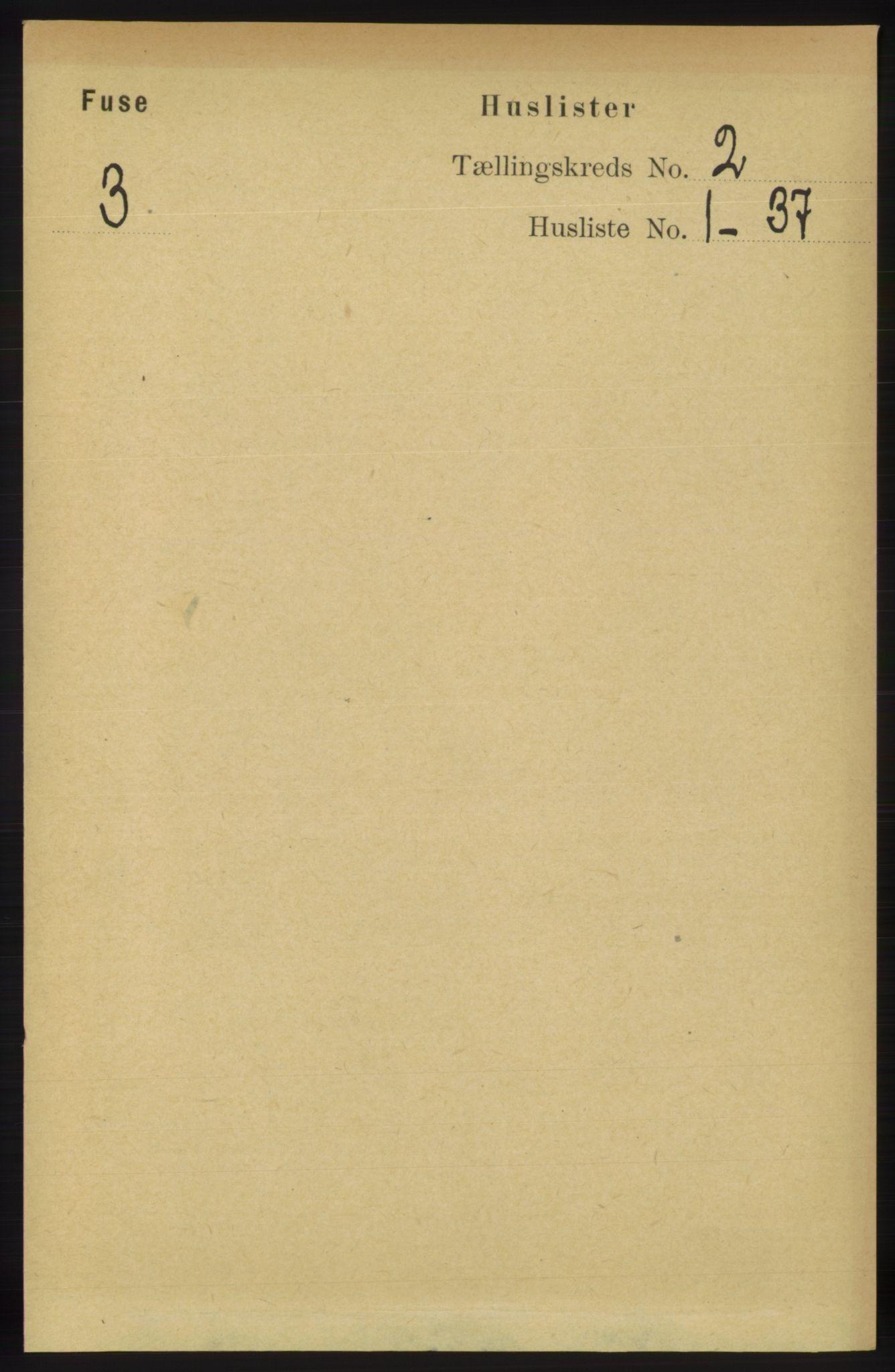 RA, Folketelling 1891 for 1241 Fusa herred, 1891, s. 264