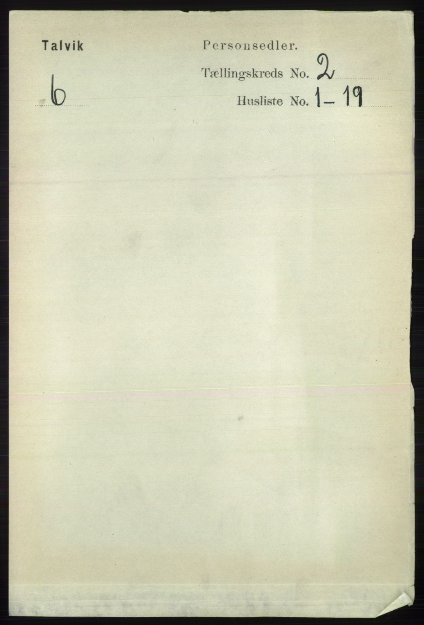 RA, Folketelling 1891 for 2013 Talvik herred, 1891, s. 527
