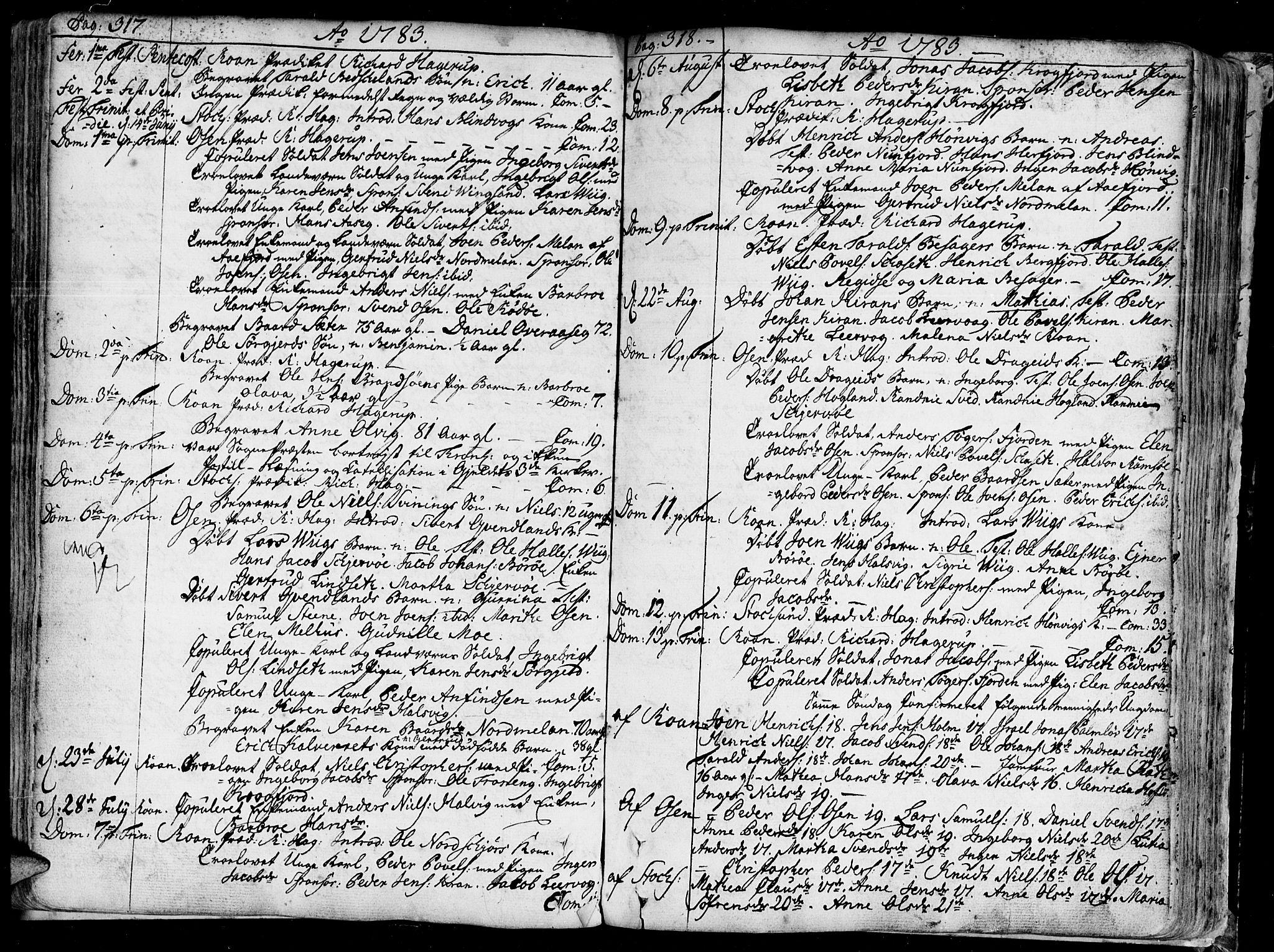 SAT, Ministerialprotokoller, klokkerbøker og fødselsregistre - Sør-Trøndelag, 657/L0700: Ministerialbok nr. 657A01, 1732-1801, s. 317-318