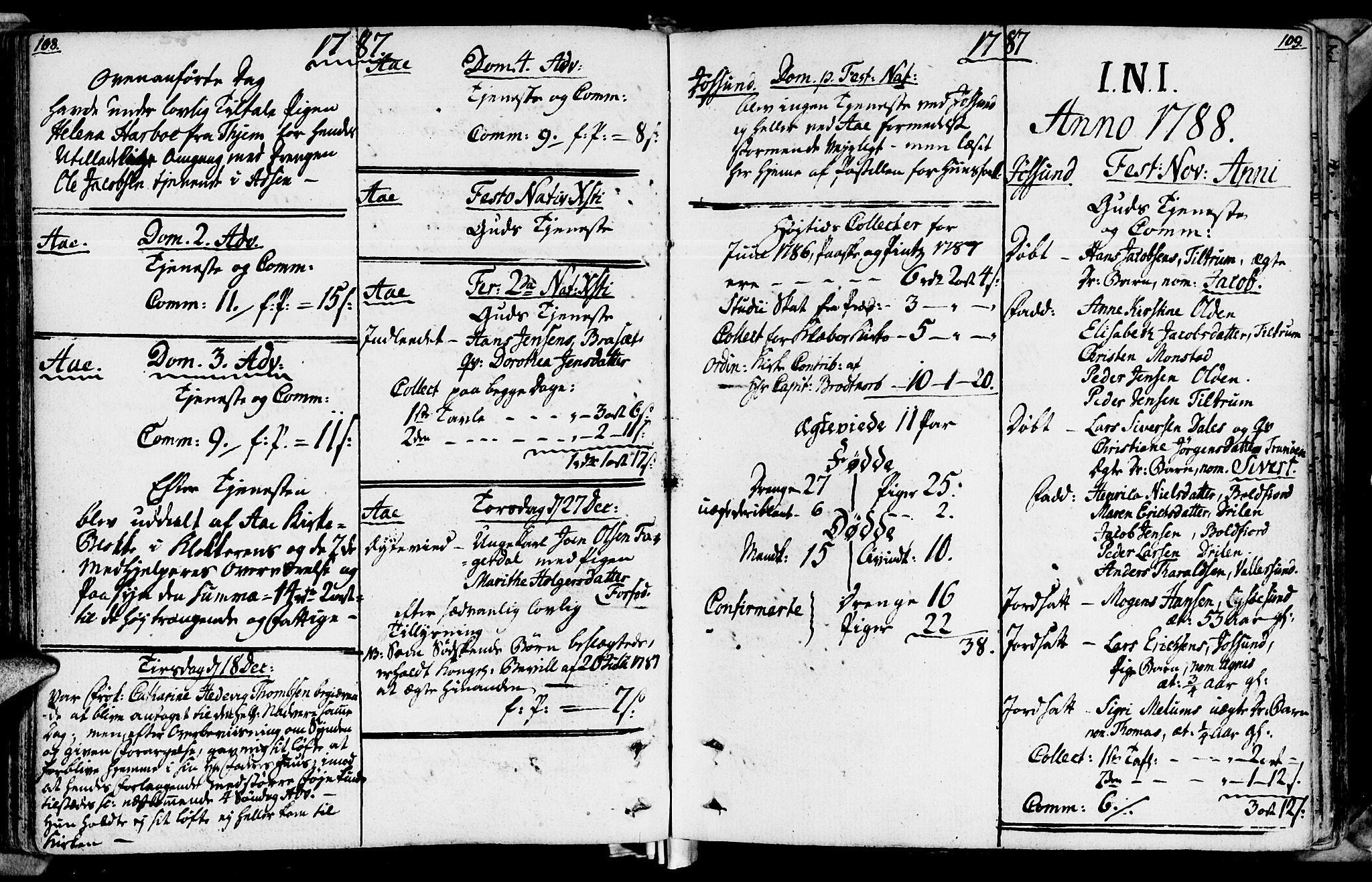 SAT, Ministerialprotokoller, klokkerbøker og fødselsregistre - Sør-Trøndelag, 655/L0673: Ministerialbok nr. 655A02, 1780-1801, s. 108-109