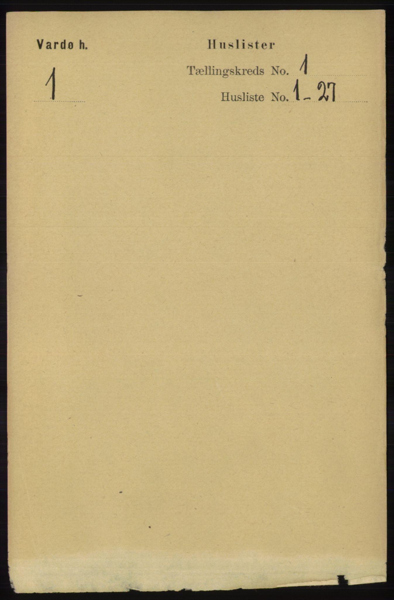 RA, Folketelling 1891 for 2028 Vardø herred, 1891, s. 15