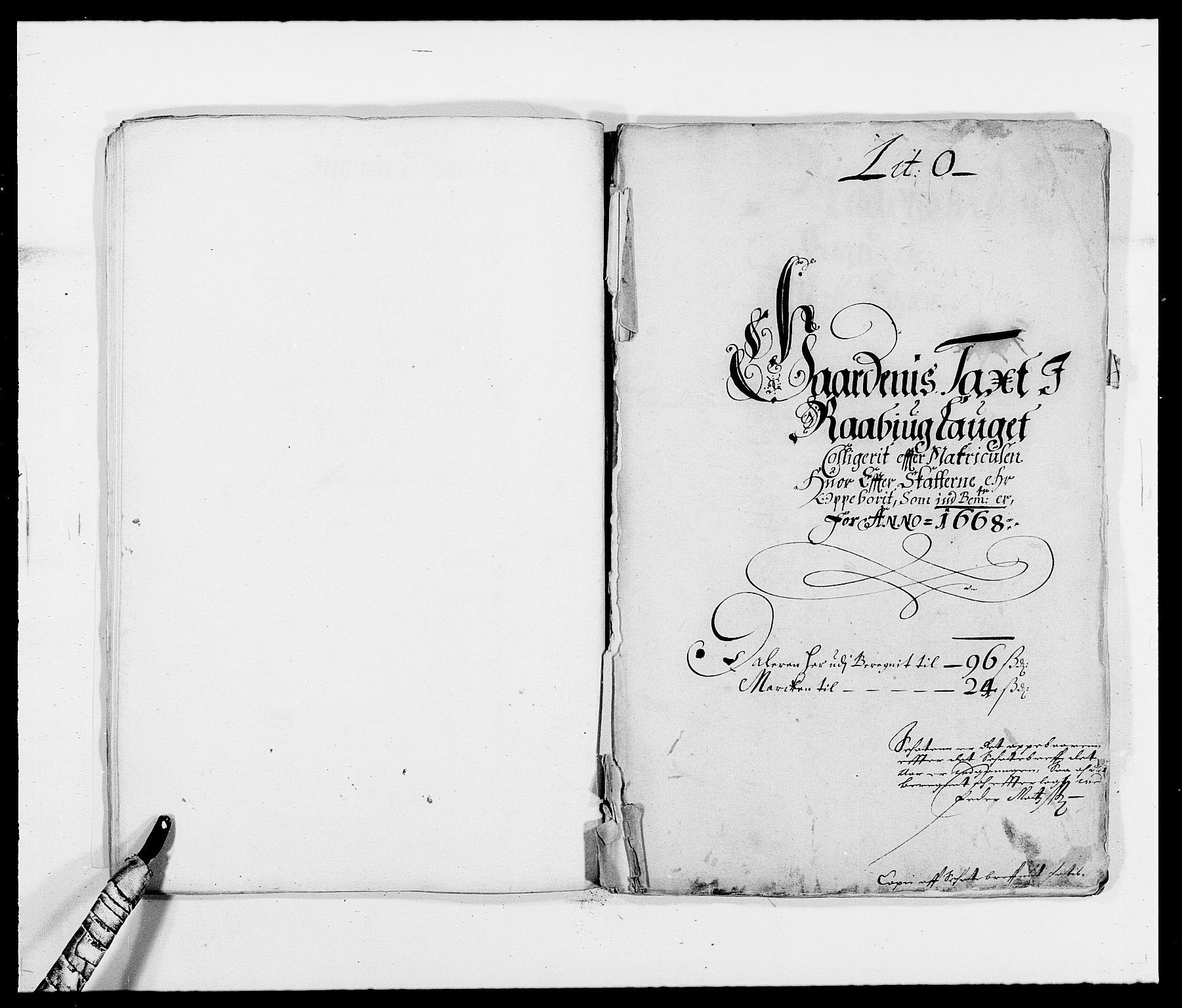 RA, Rentekammeret inntil 1814, Reviderte regnskaper, Fogderegnskap, R40/L2431: Fogderegnskap Råbyggelag, 1664-1668, s. 312