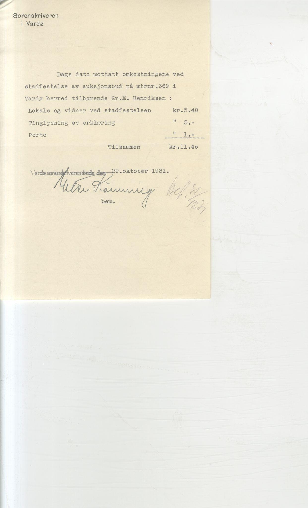 VAMU, Brodtkorb handel A/S, Q/Qb/L0003: Faste eiendommer i Vardø Herred, 1862-1939, s. 396