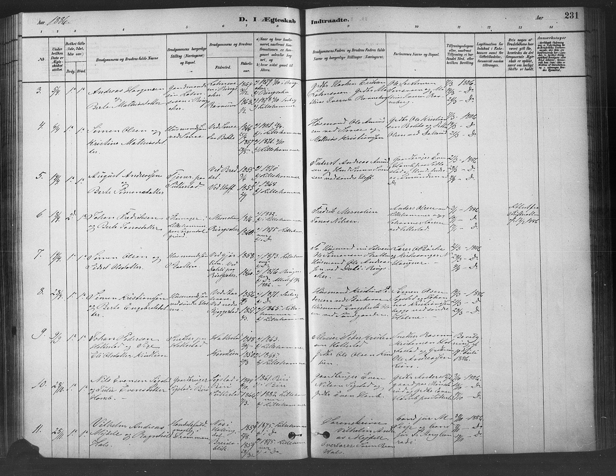 SAH, Fåberg prestekontor, Ministerialbok nr. 9, 1879-1898, s. 231