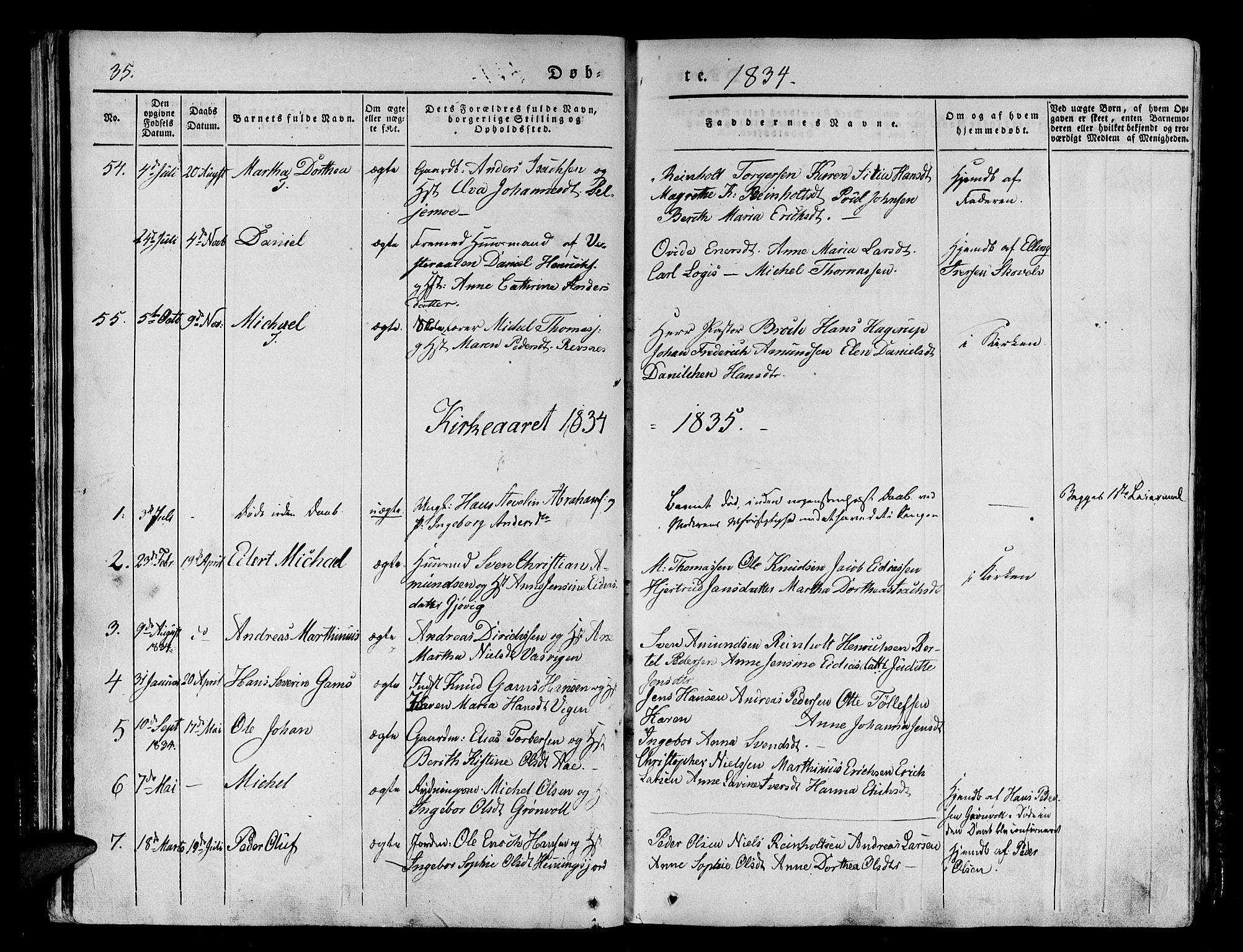 SATØ, Tranøy sokneprestkontor, I/Ia/Iaa/L0005kirke: Ministerialbok nr. 5, 1829-1844, s. 35