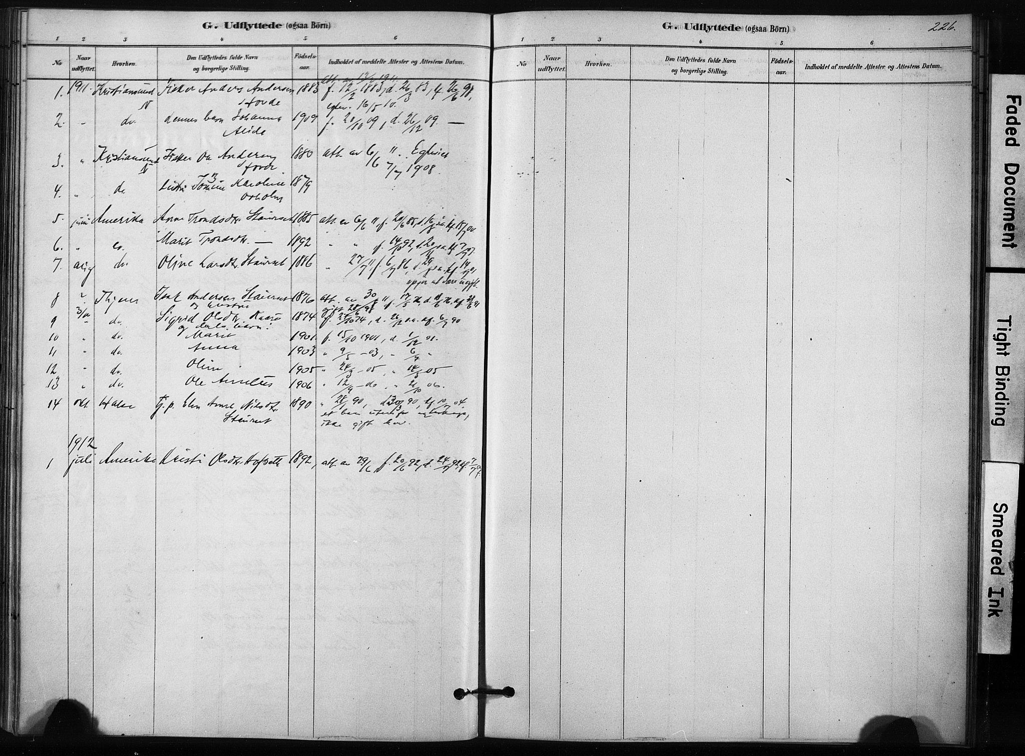 SAT, Ministerialprotokoller, klokkerbøker og fødselsregistre - Sør-Trøndelag, 631/L0512: Ministerialbok nr. 631A01, 1879-1912, s. 226
