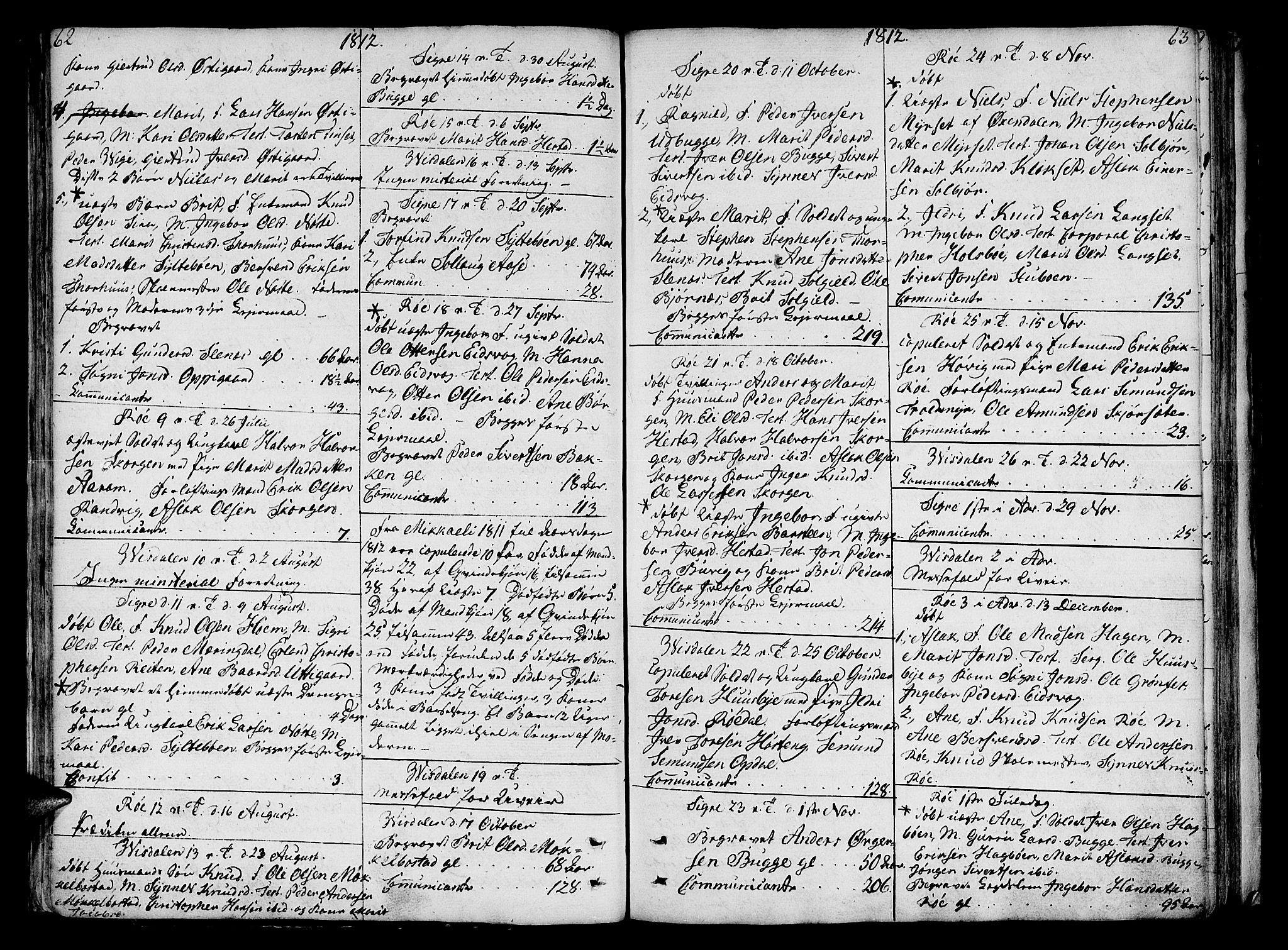 SAT, Ministerialprotokoller, klokkerbøker og fødselsregistre - Møre og Romsdal, 551/L0622: Ministerialbok nr. 551A02, 1804-1845, s. 62-63