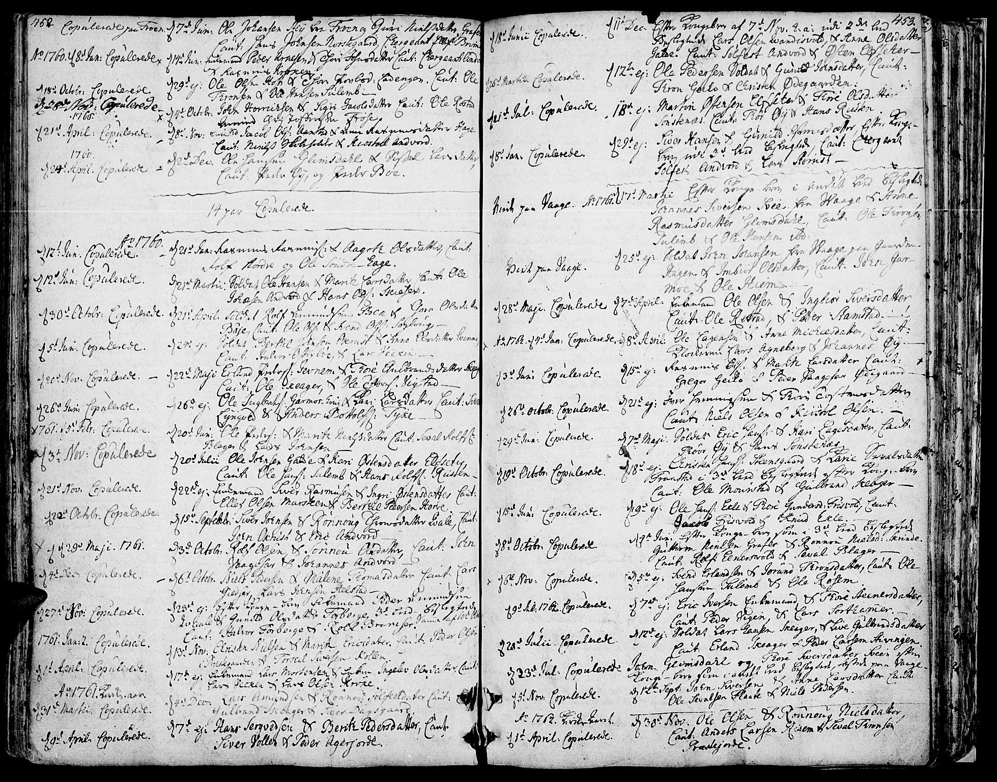 SAH, Lom prestekontor, K/L0002: Ministerialbok nr. 2, 1749-1801, s. 452-453