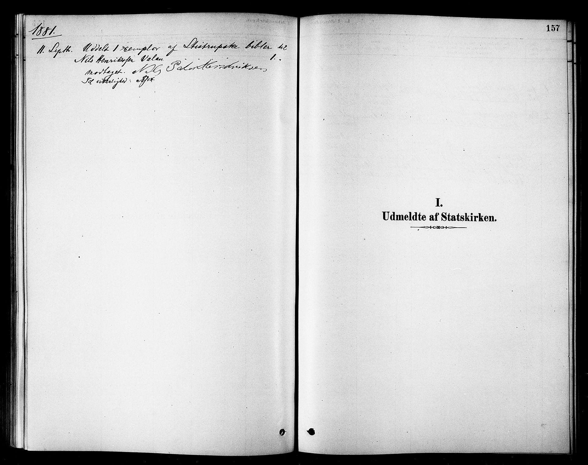 SATØ, Loppa sokneprestkontor, H/Ha/L0007kirke: Ministerialbok nr. 7, 1879-1889, s. 157